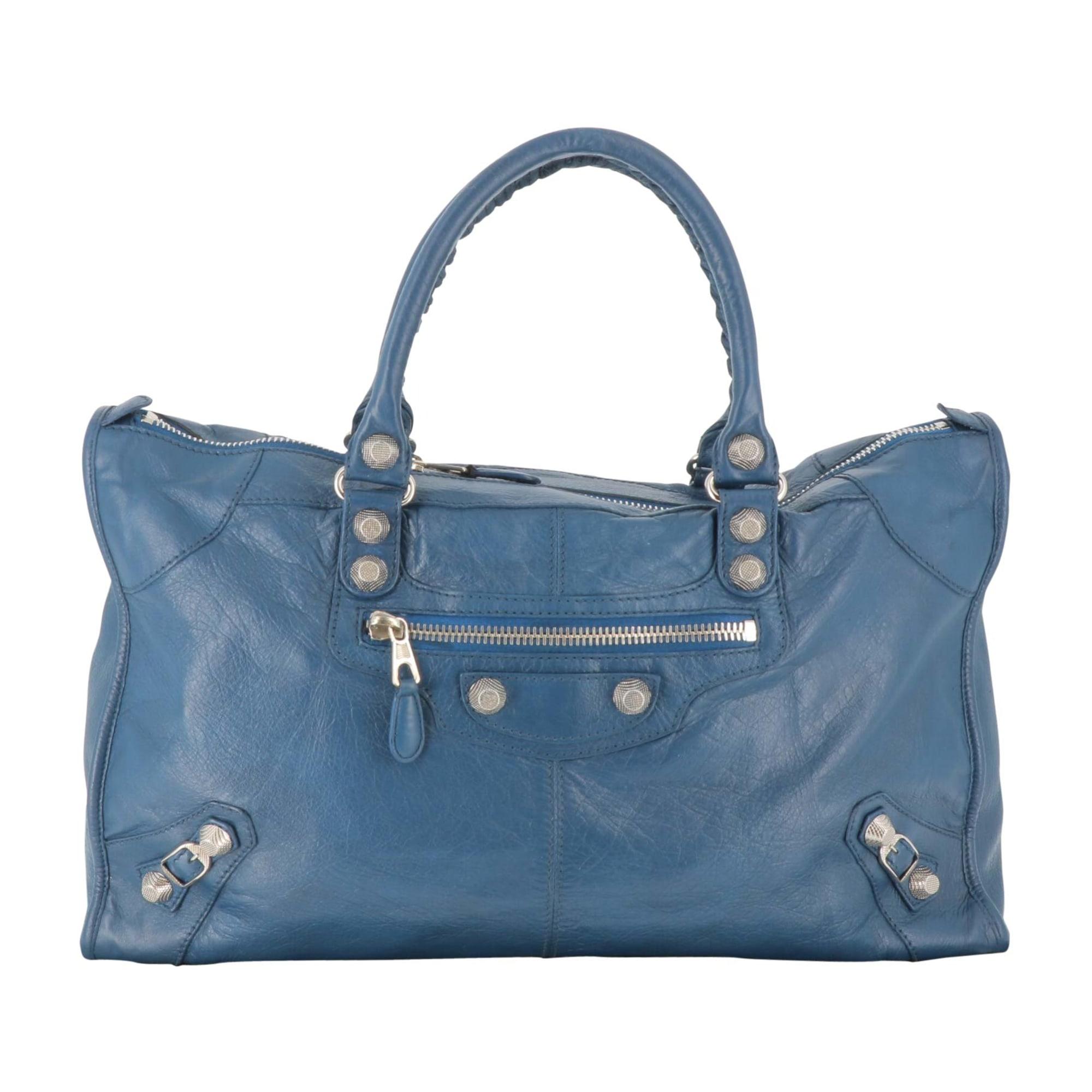 Lederhandtasche BALENCIAGA Blau, marineblau, türkisblau