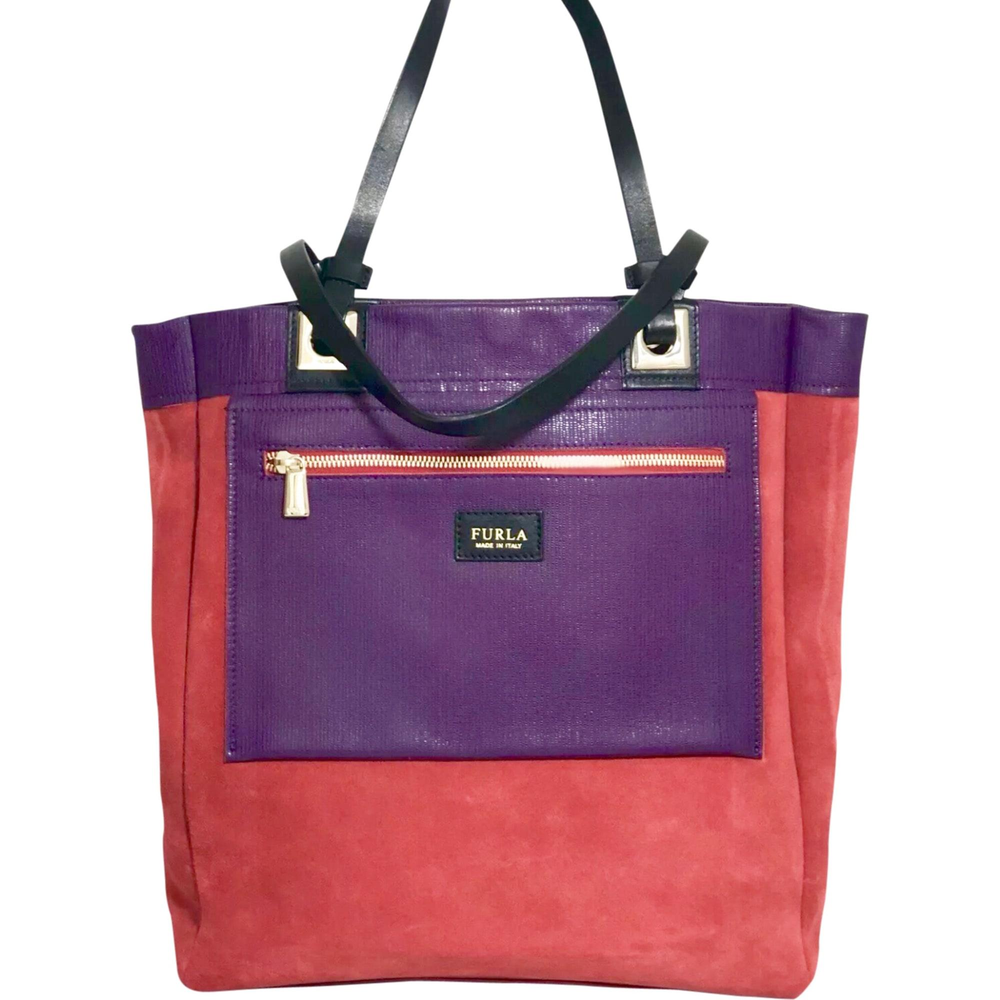 Sac XL en cuir FURLA Rouge et violet