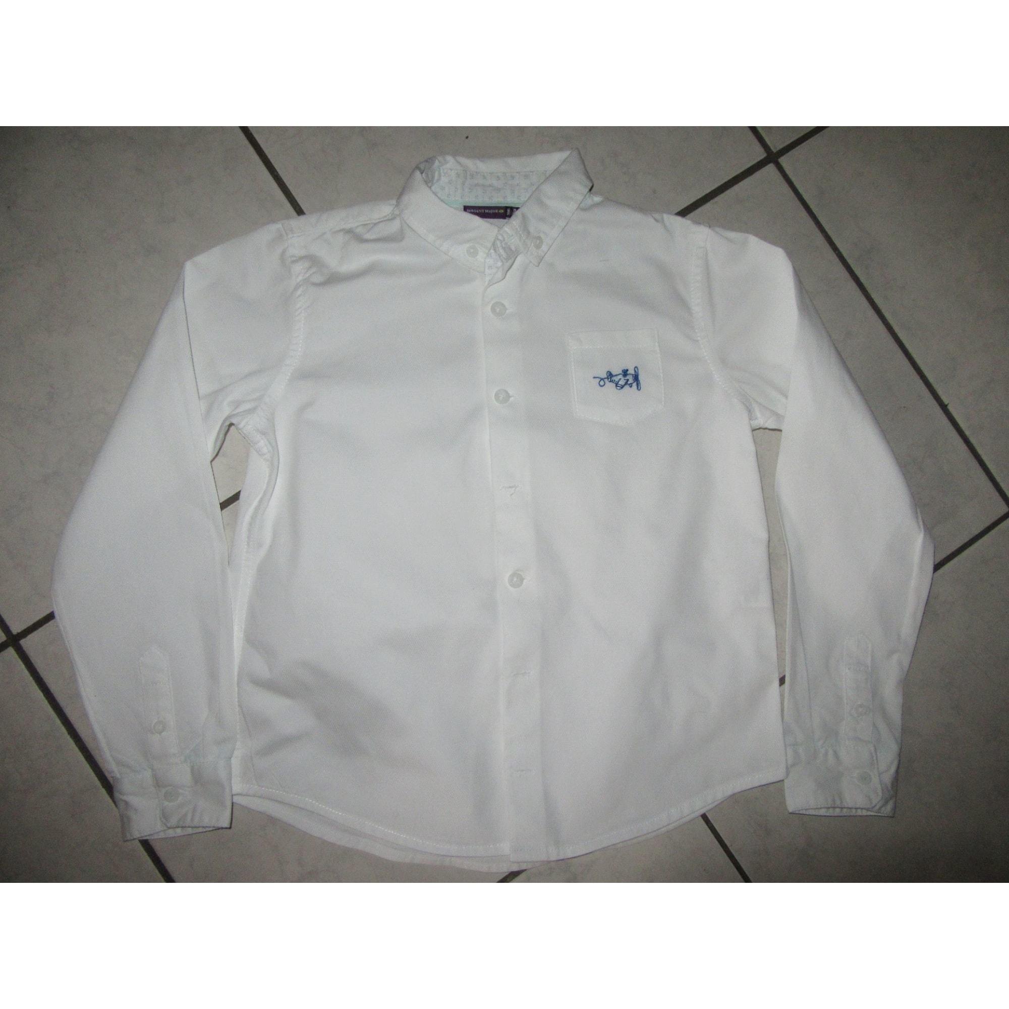Chemise SERGENT MAJOR Blanc, blanc cassé, écru