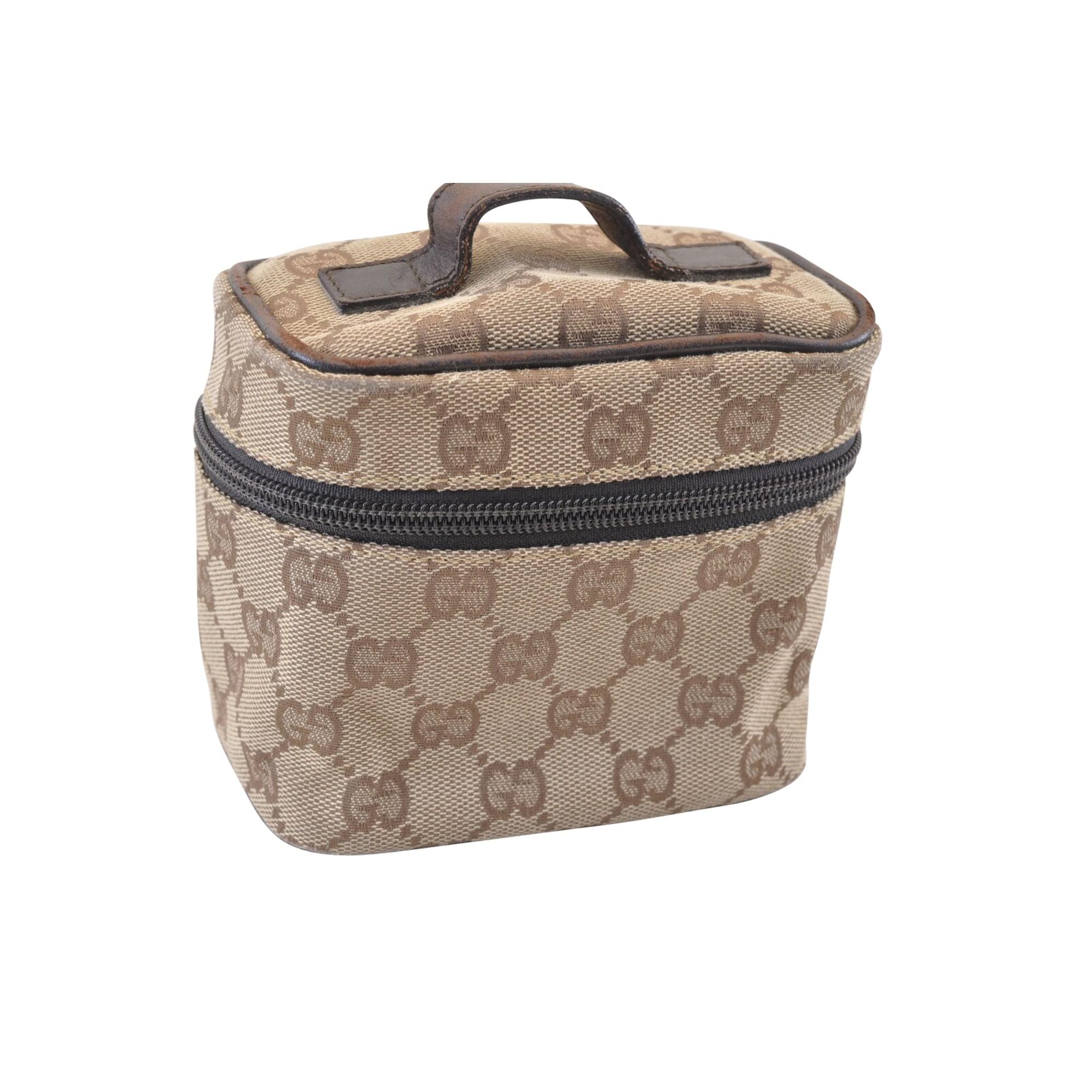 Handtasche Stoff GUCCI Braun