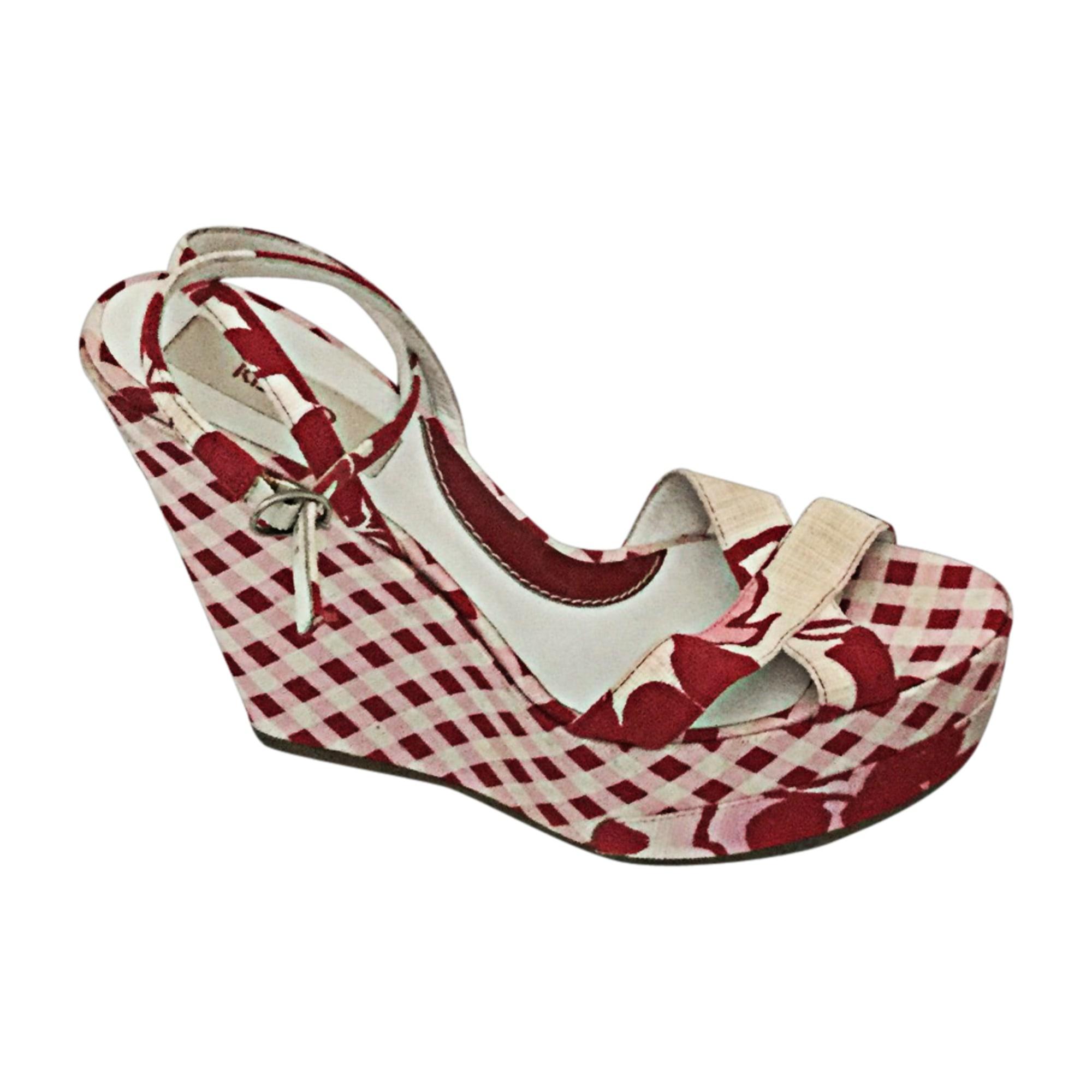 Sandales compensées KENZO Rose, fuschia, vieux rose