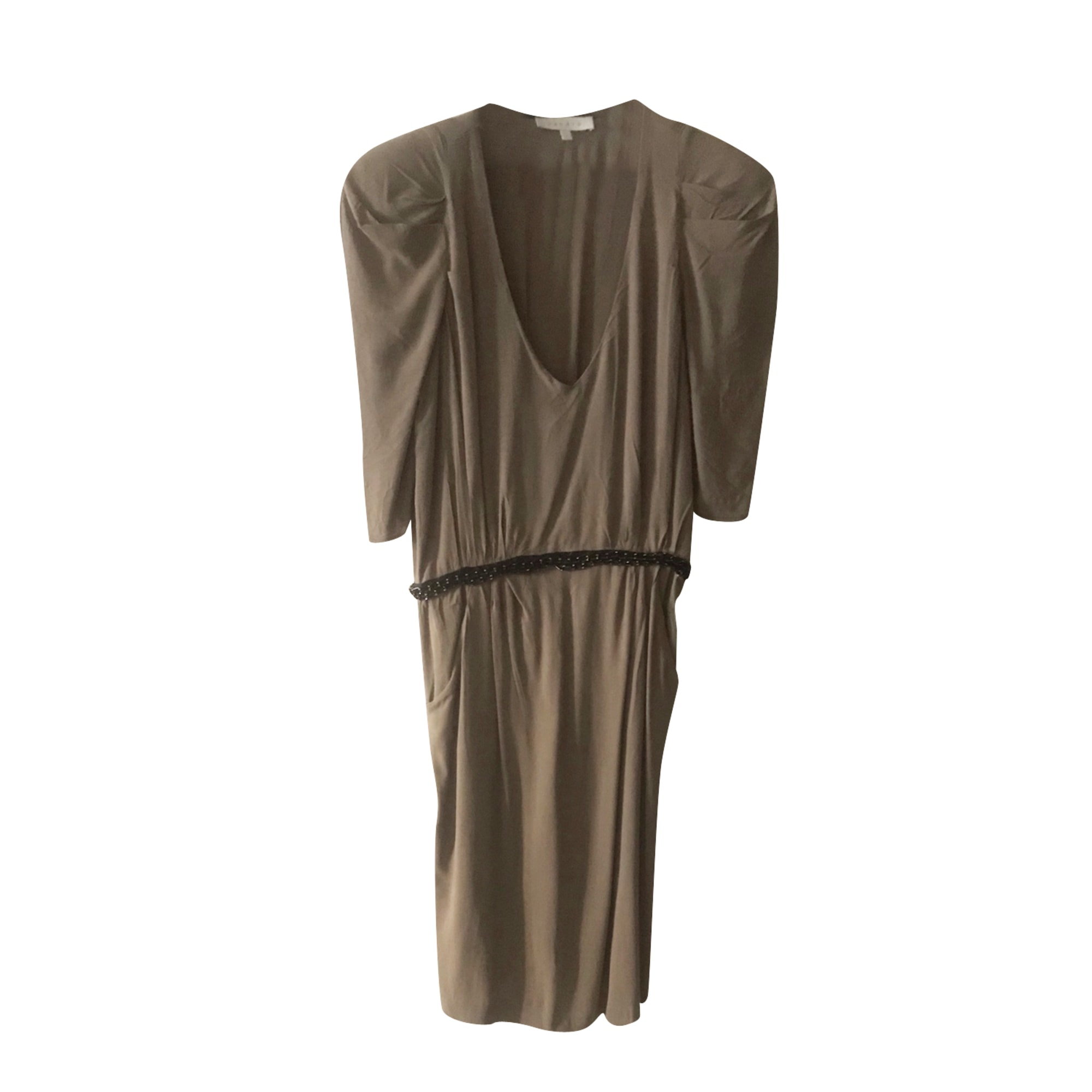 Robe mi-longue SANDRO Marron