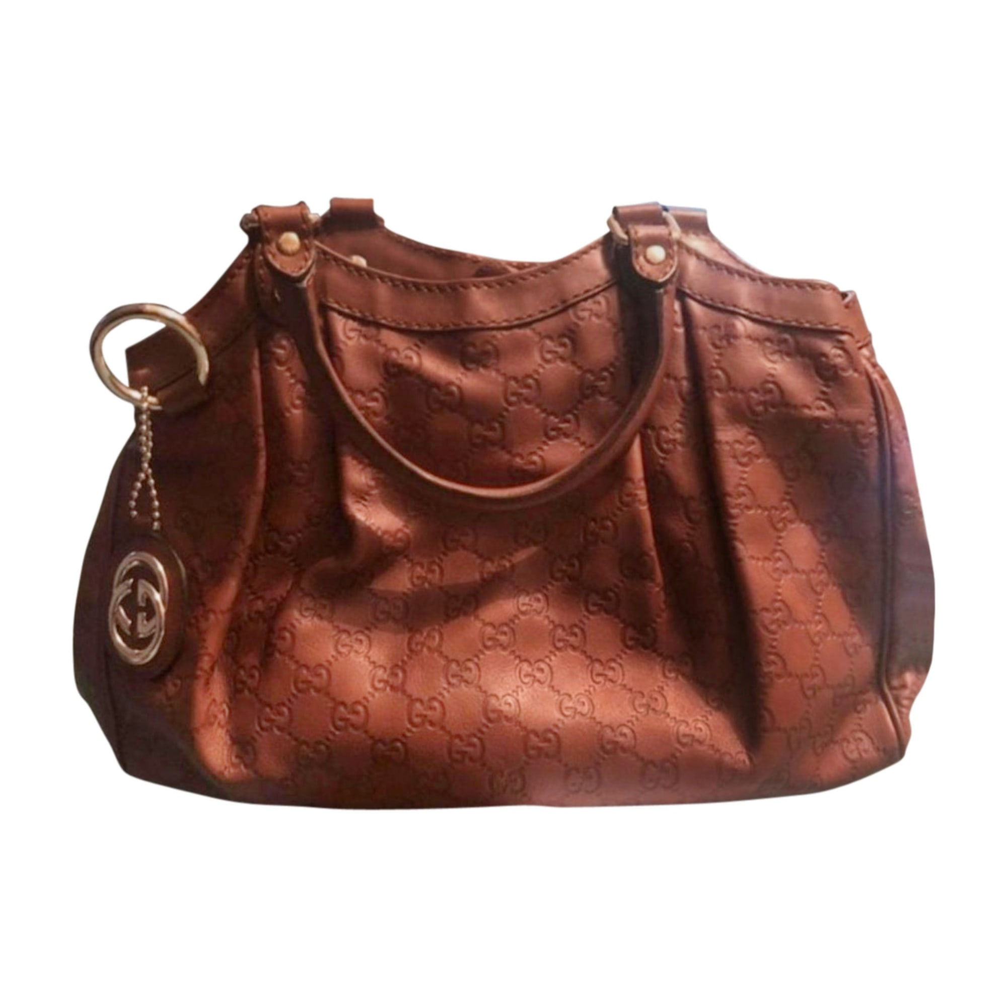 Sac à main en cuir GUCCI Marron