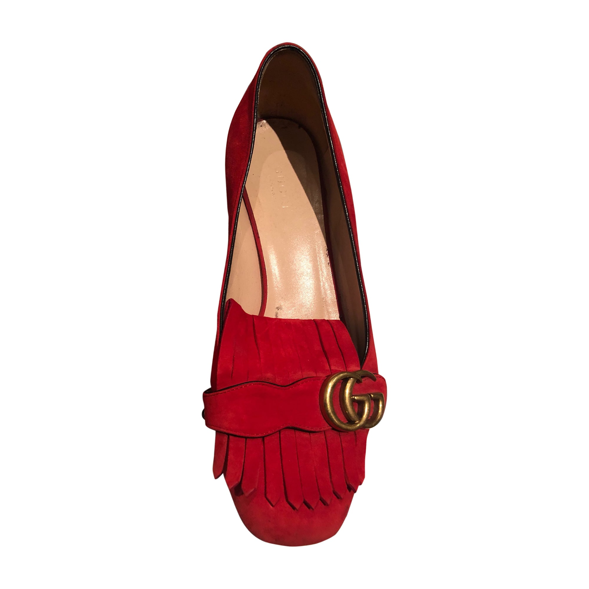Loafers GUCCI Red, burgundy