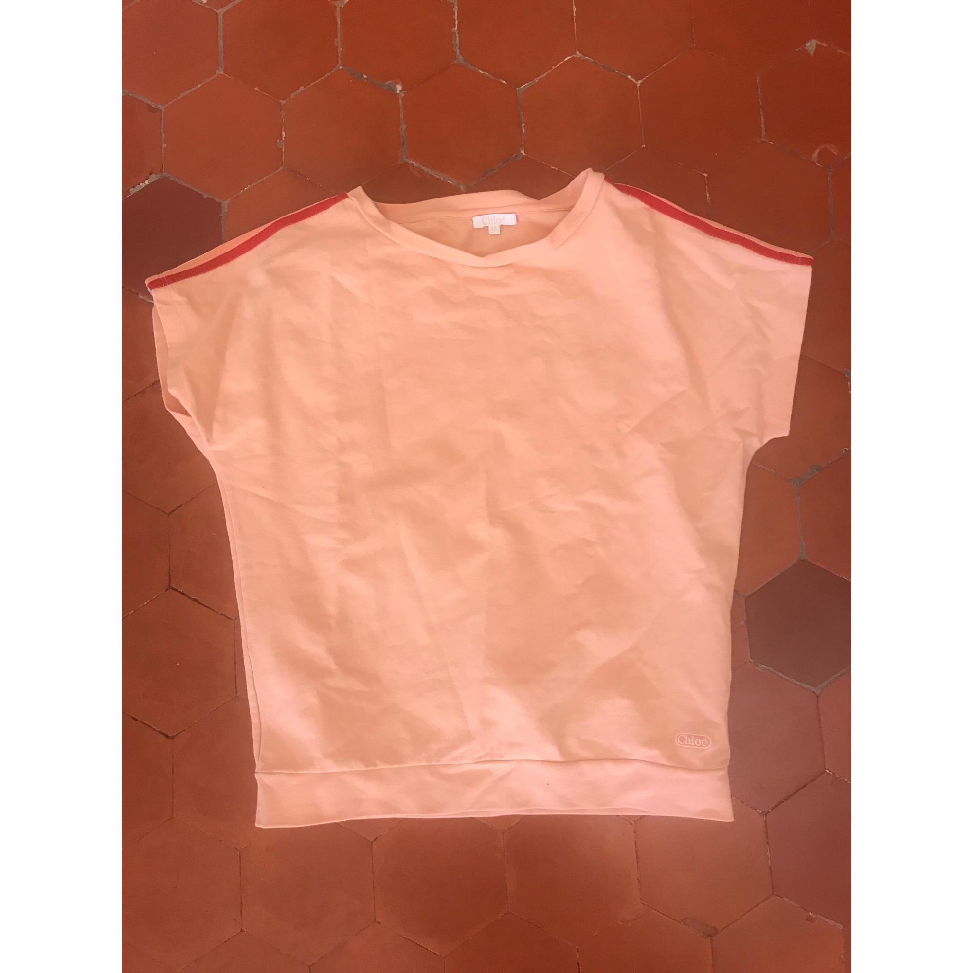 Top, Tee-shirt CHLOÉ coton orange 13-14 ans
