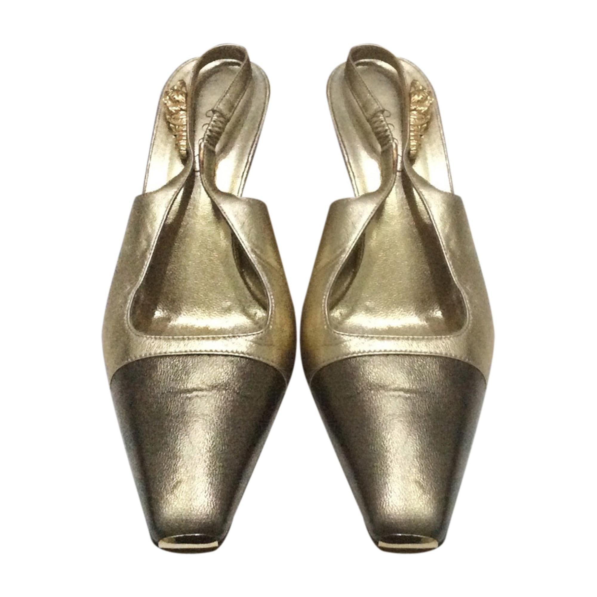 Sabots GUCCI Doré, bronze, cuivre