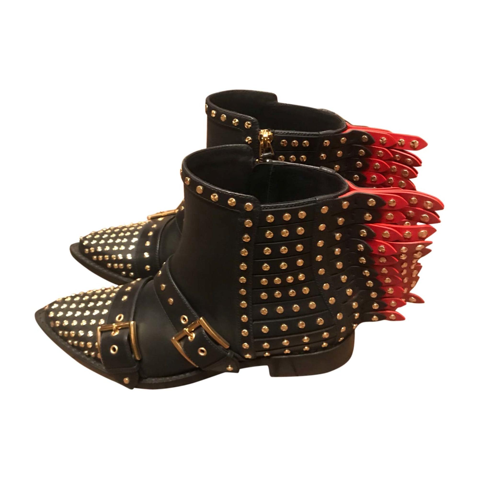 Flat Ankle Boots ALEXANDER MCQUEEN Black