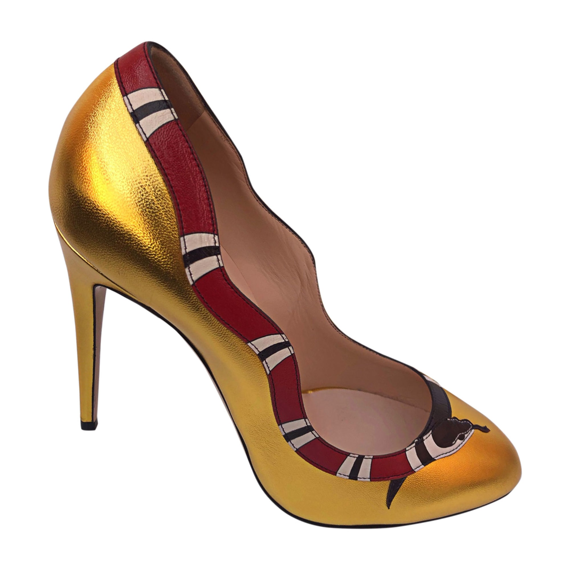 Pumps, Heels GUCCI Golden, bronze, copper