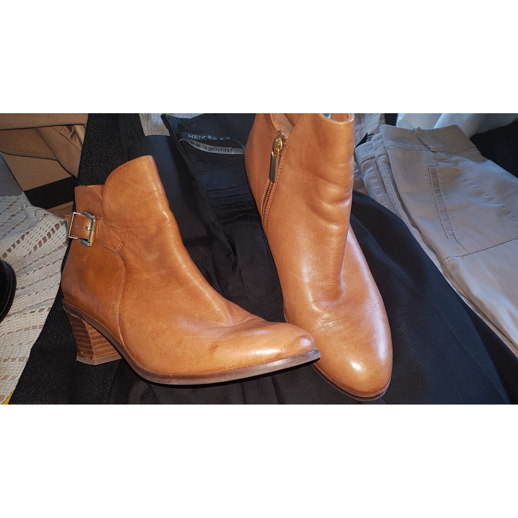 Bottines & low boots à talons BOCAGE Marron