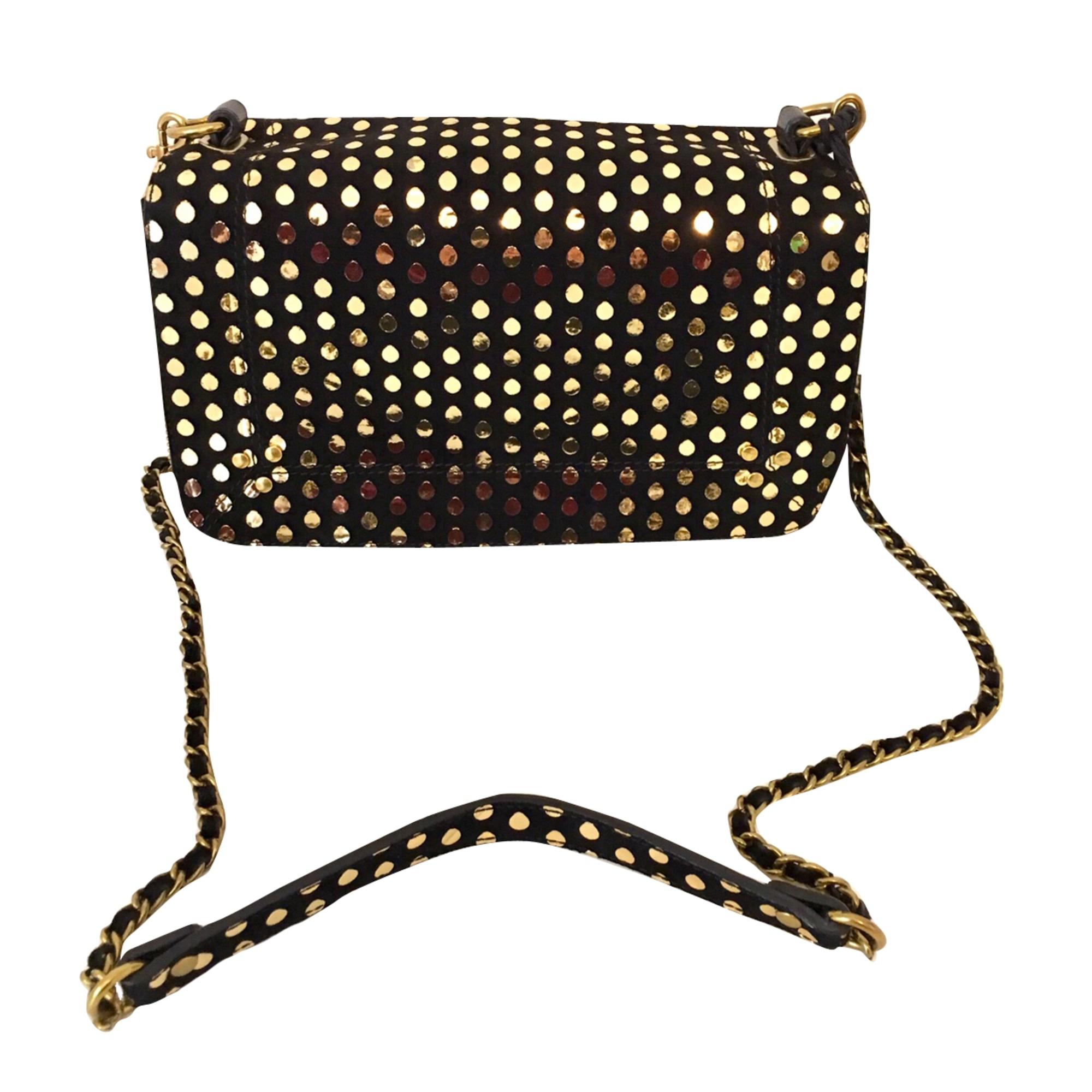 Leather Shoulder Bag JEROME DREYFUSS Noir doré