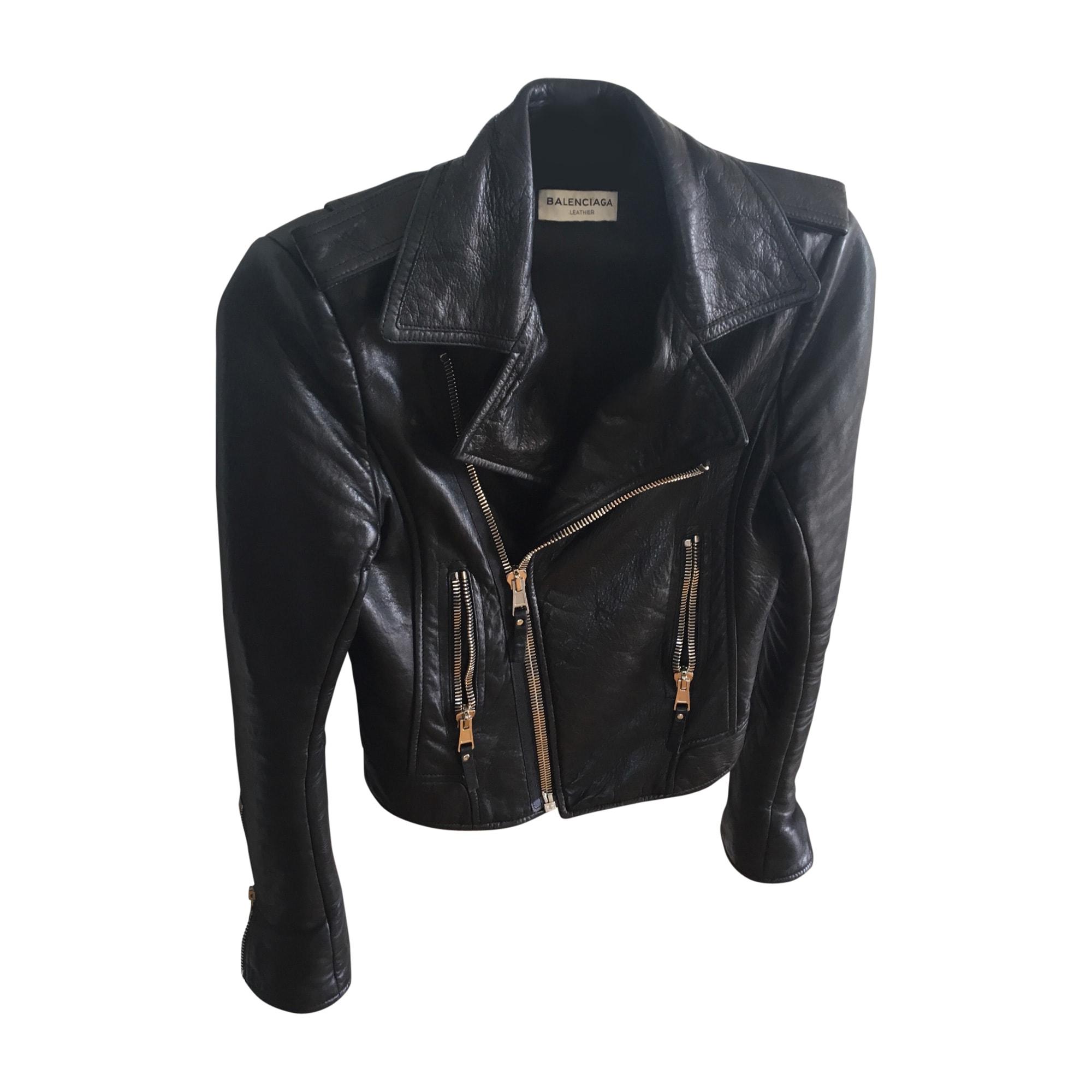 Leather Zipped Jacket BALENCIAGA Black