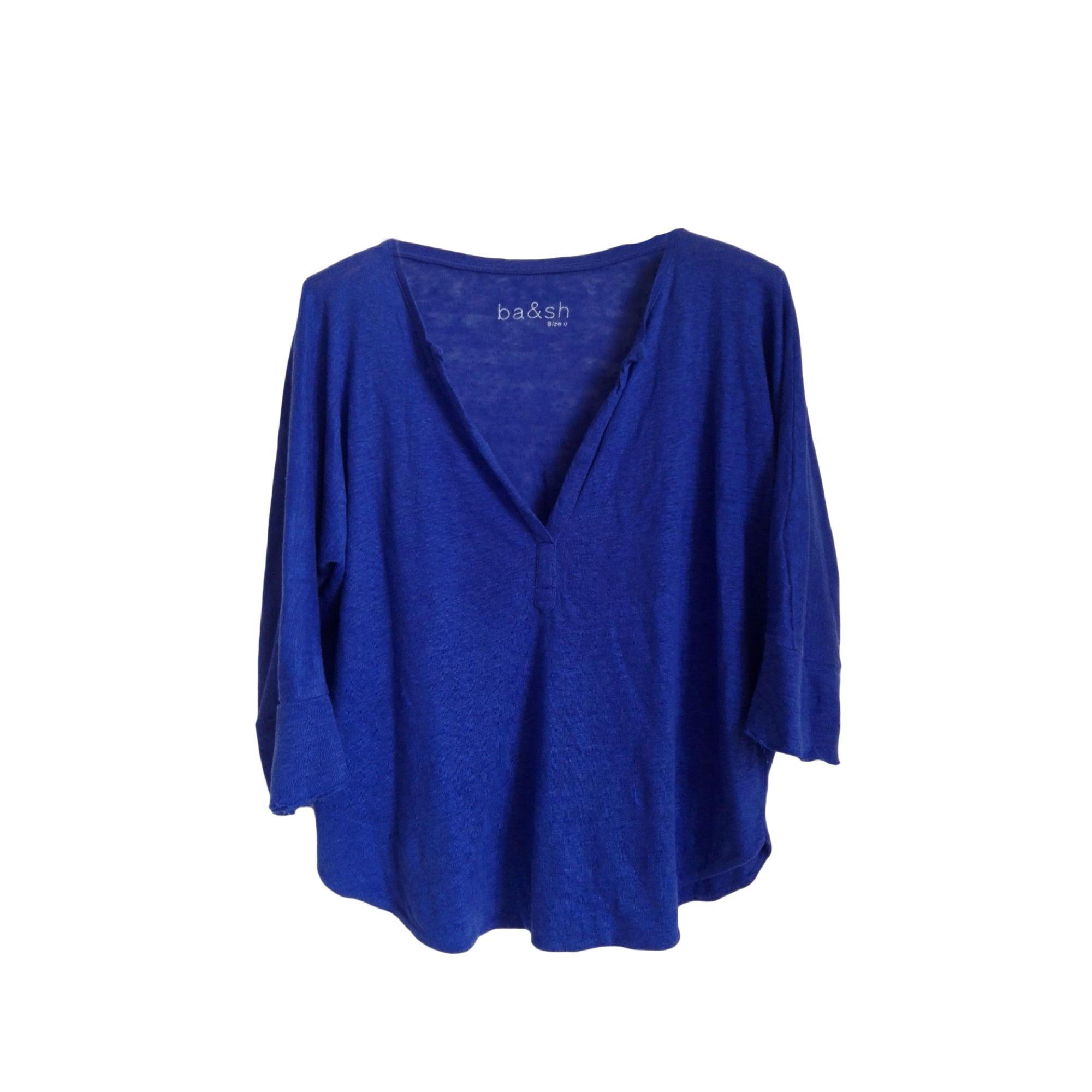 Tops, T-Shirt BA&SH Blau, marineblau, türkisblau