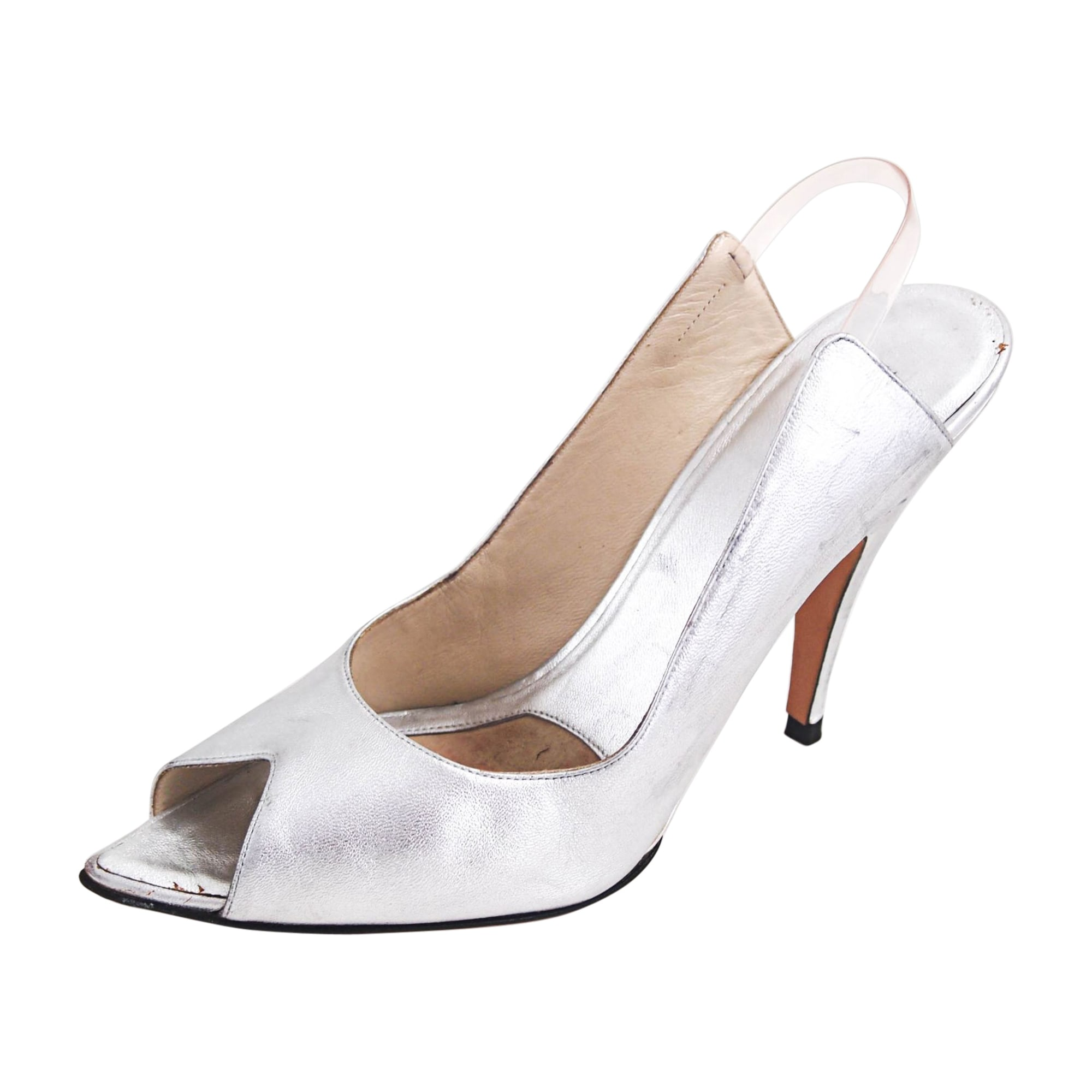 Heeled Sandals GUCCI Silver