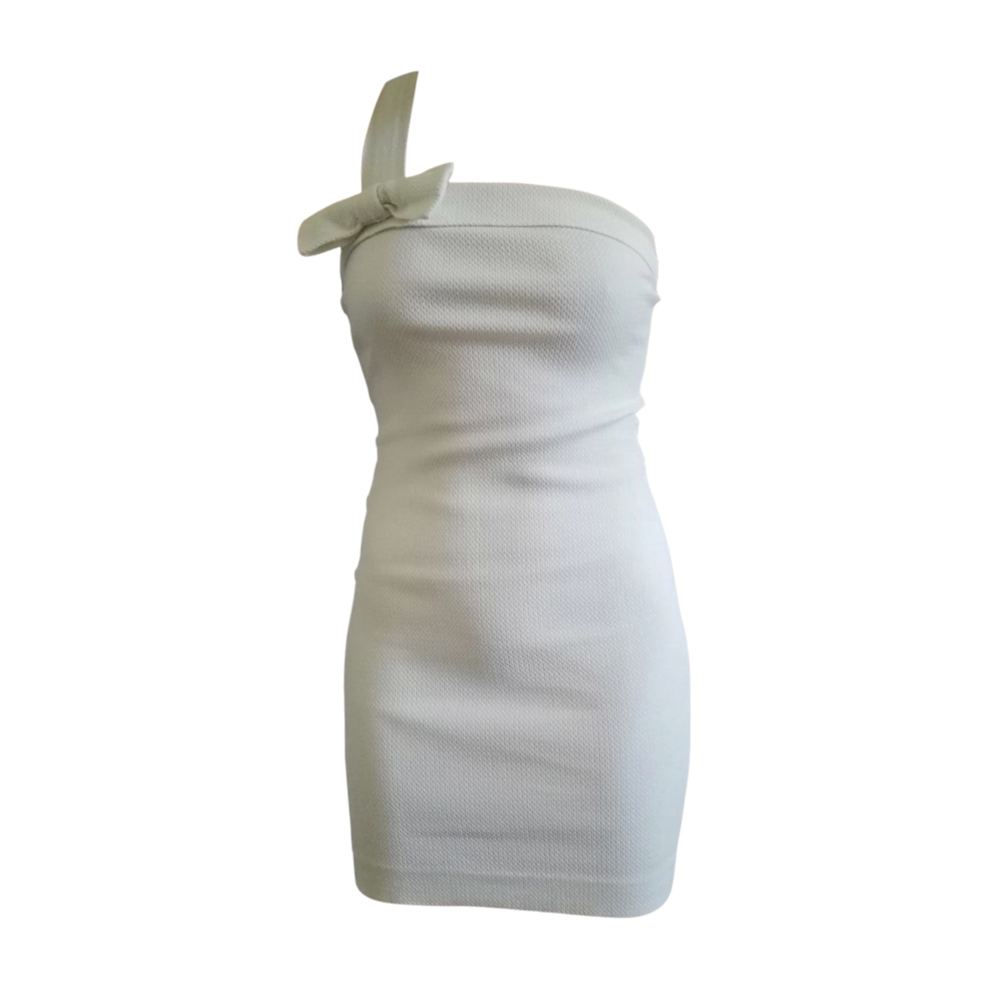 Mini Dress YVES SAINT LAURENT White, off-white, ecru