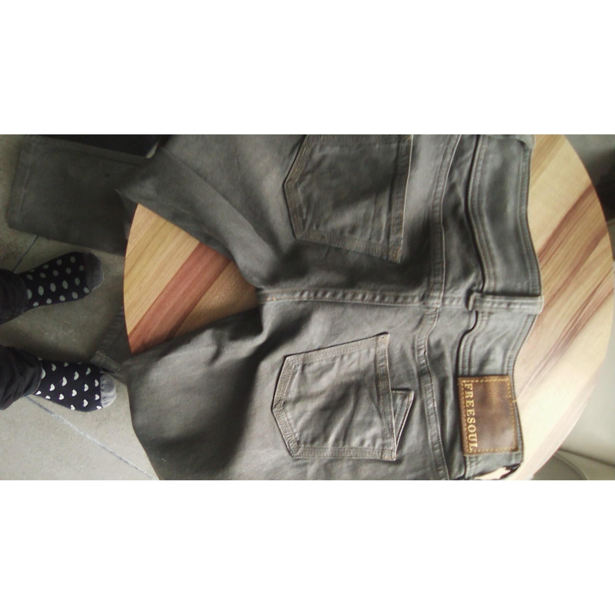 Jeans droit FREESOUL Gris, anthracite