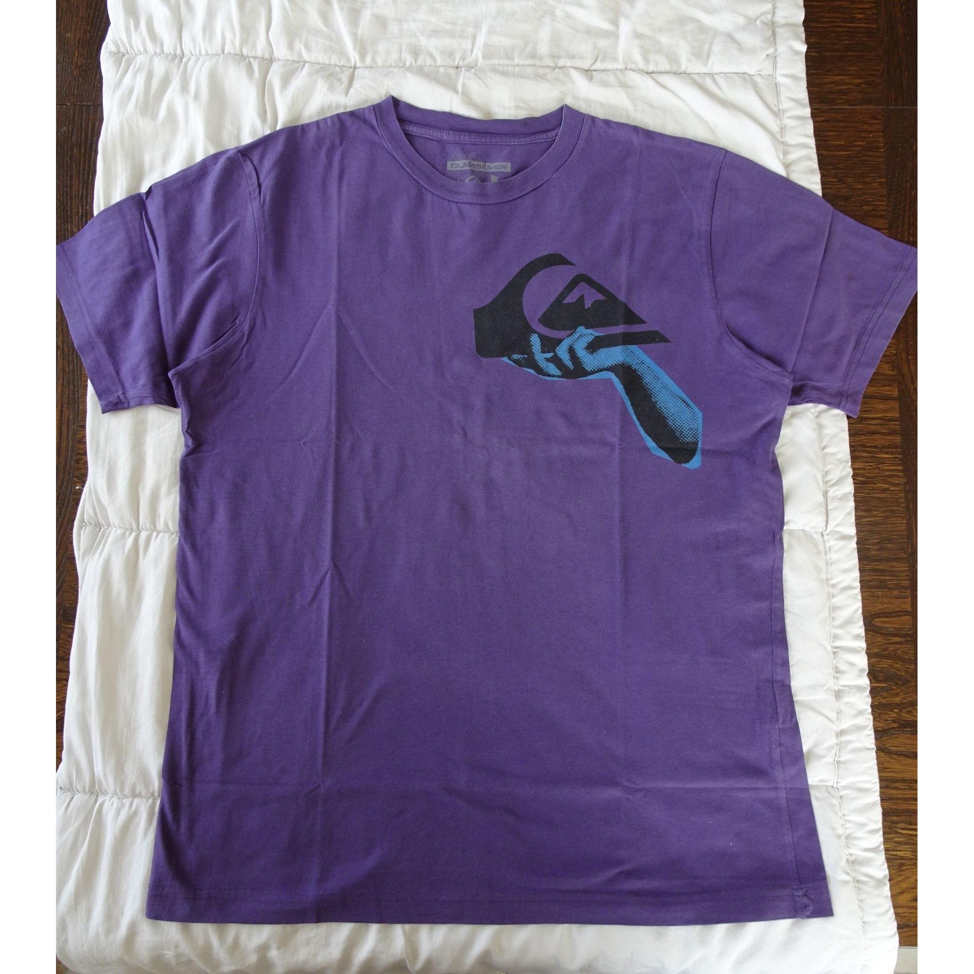 T-shirt QUIKSILVER Purple, mauve, lavender