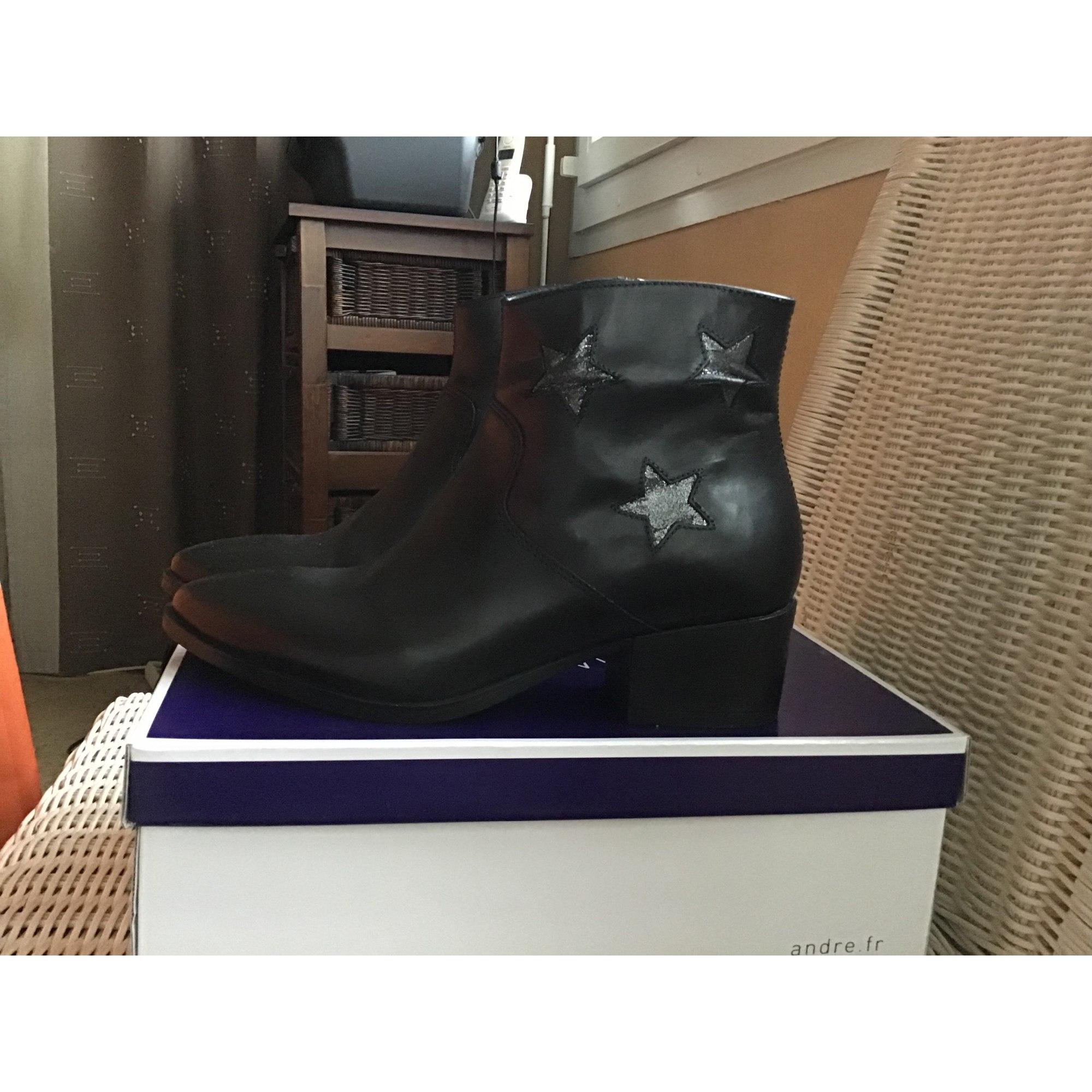 Bottines & low boots à talons REQINS Noir