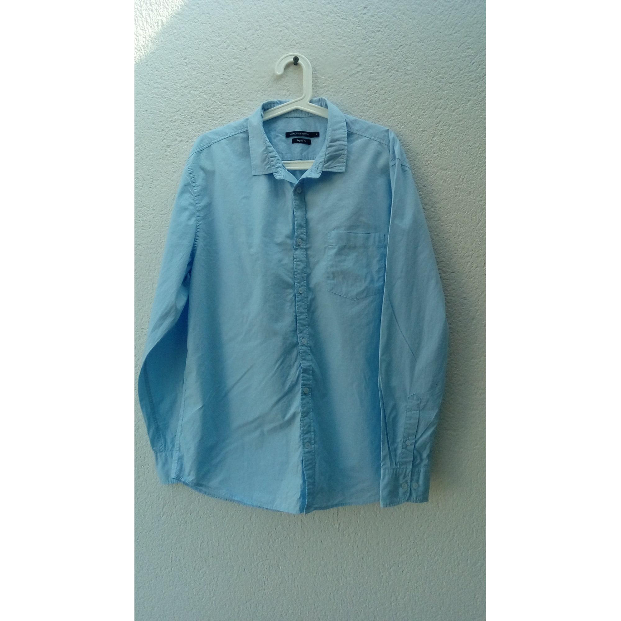 Chemise MONOPRIX Bleu, bleu marine, bleu turquoise