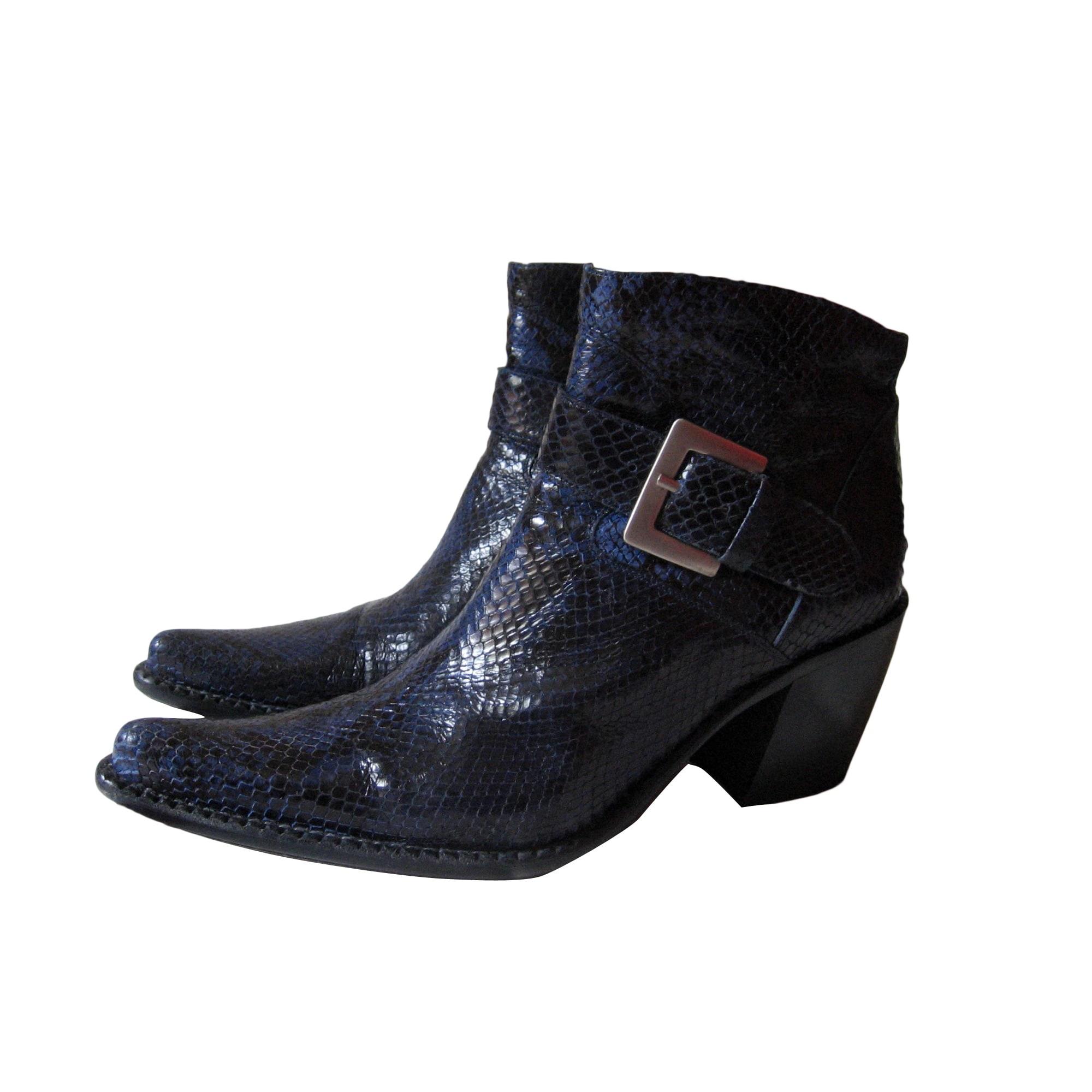 Bottines & low boots à talons FREE LANCE Bleu, bleu marine, bleu turquoise