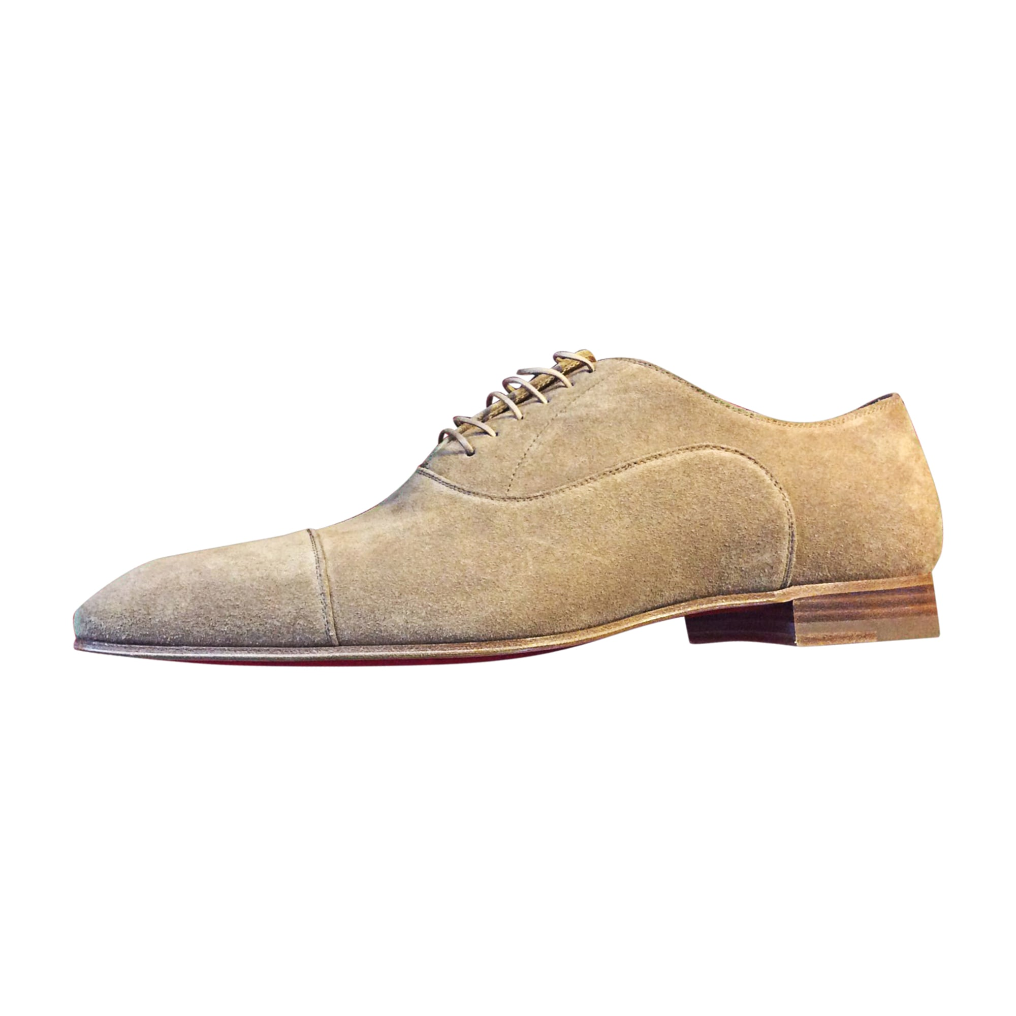 Chaussures à lacets CHRISTIAN LOUBOUTIN Beige, camel