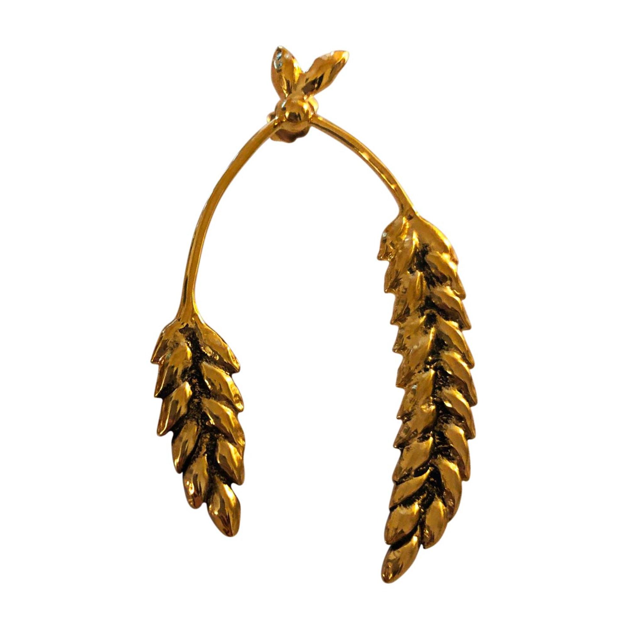Boucles d'oreilles AURELIE BIDERMANN Doré, bronze, cuivre