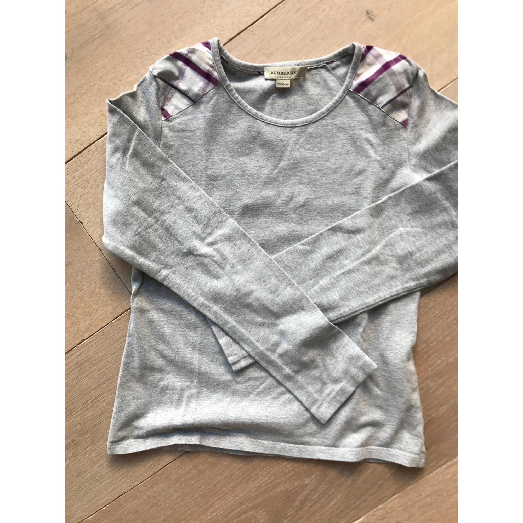 Top, Tee-shirt BURBERRY Gris, anthracite