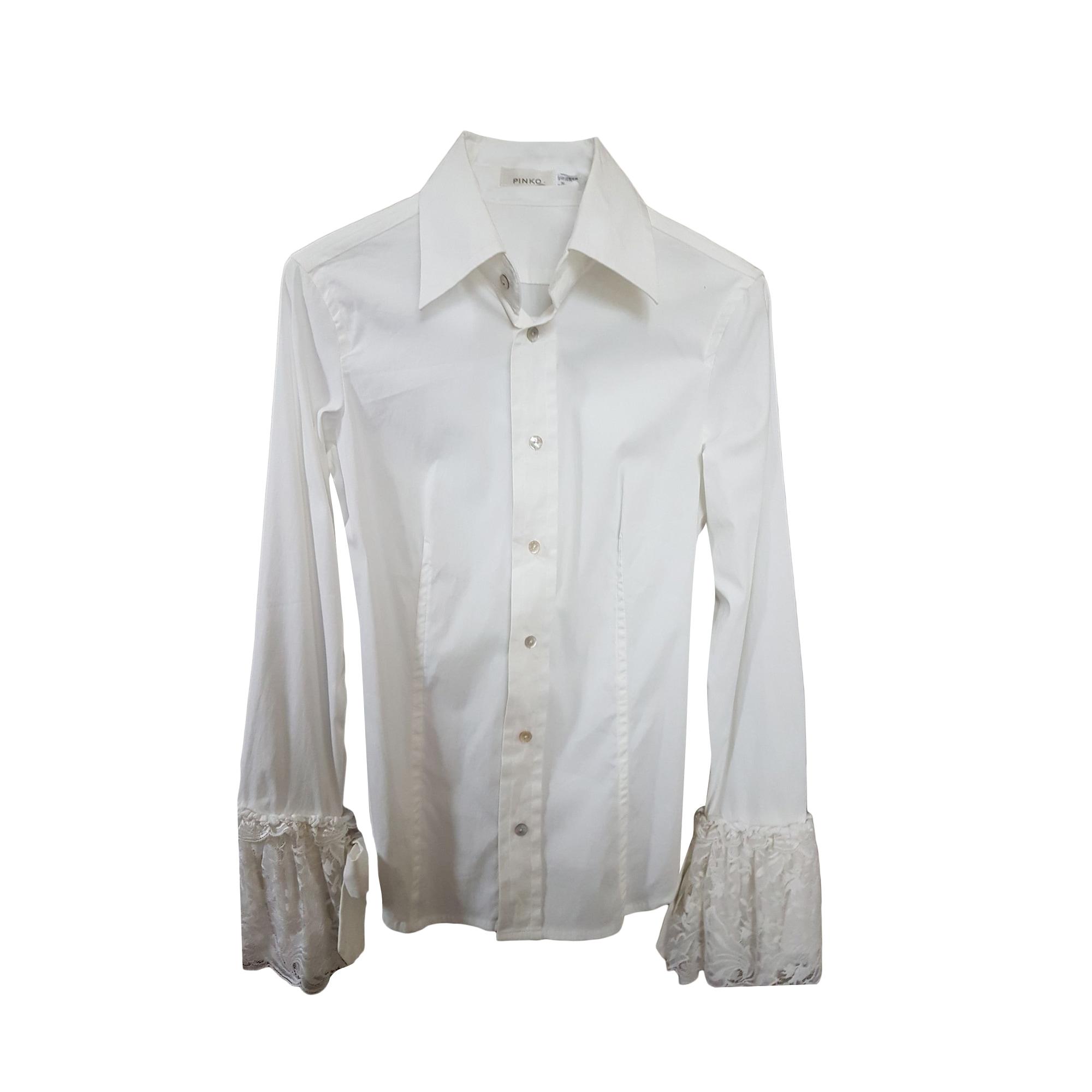 Chemise PINKO Blanc, blanc cassé, écru