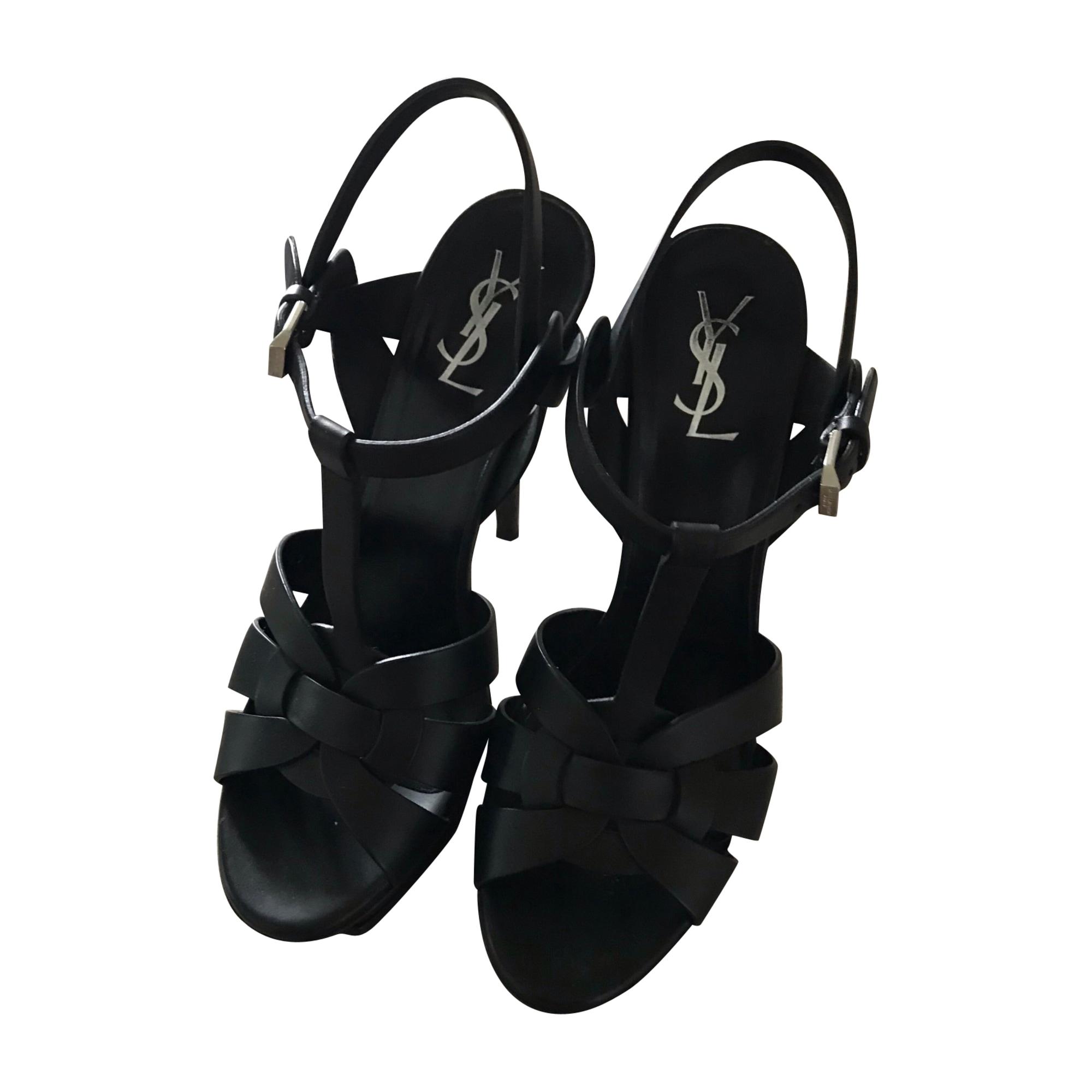 Sandales à talons SAINT LAURENT Noir
