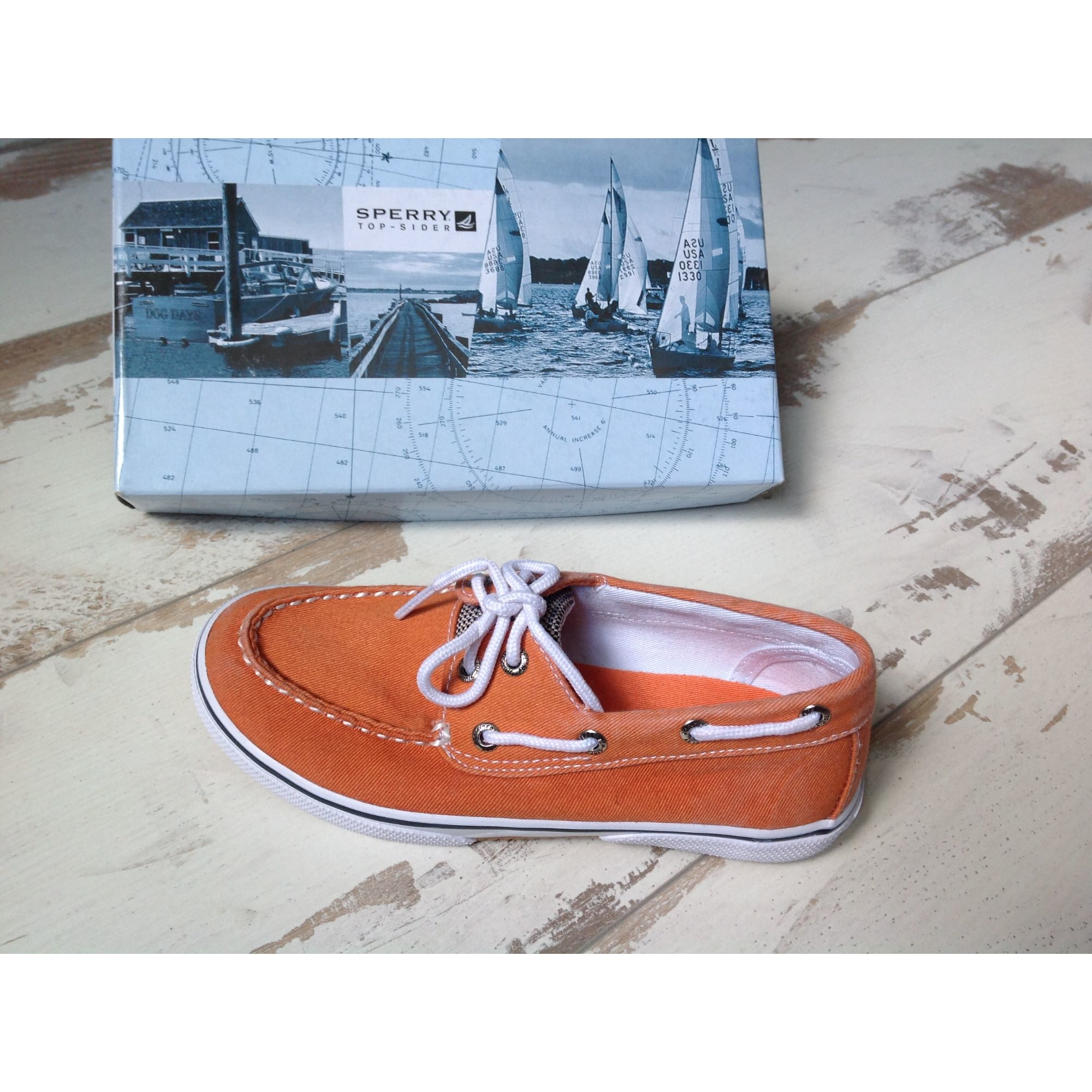 Chaussures à lacets SPERRY TOP-SIDER toile orange 38