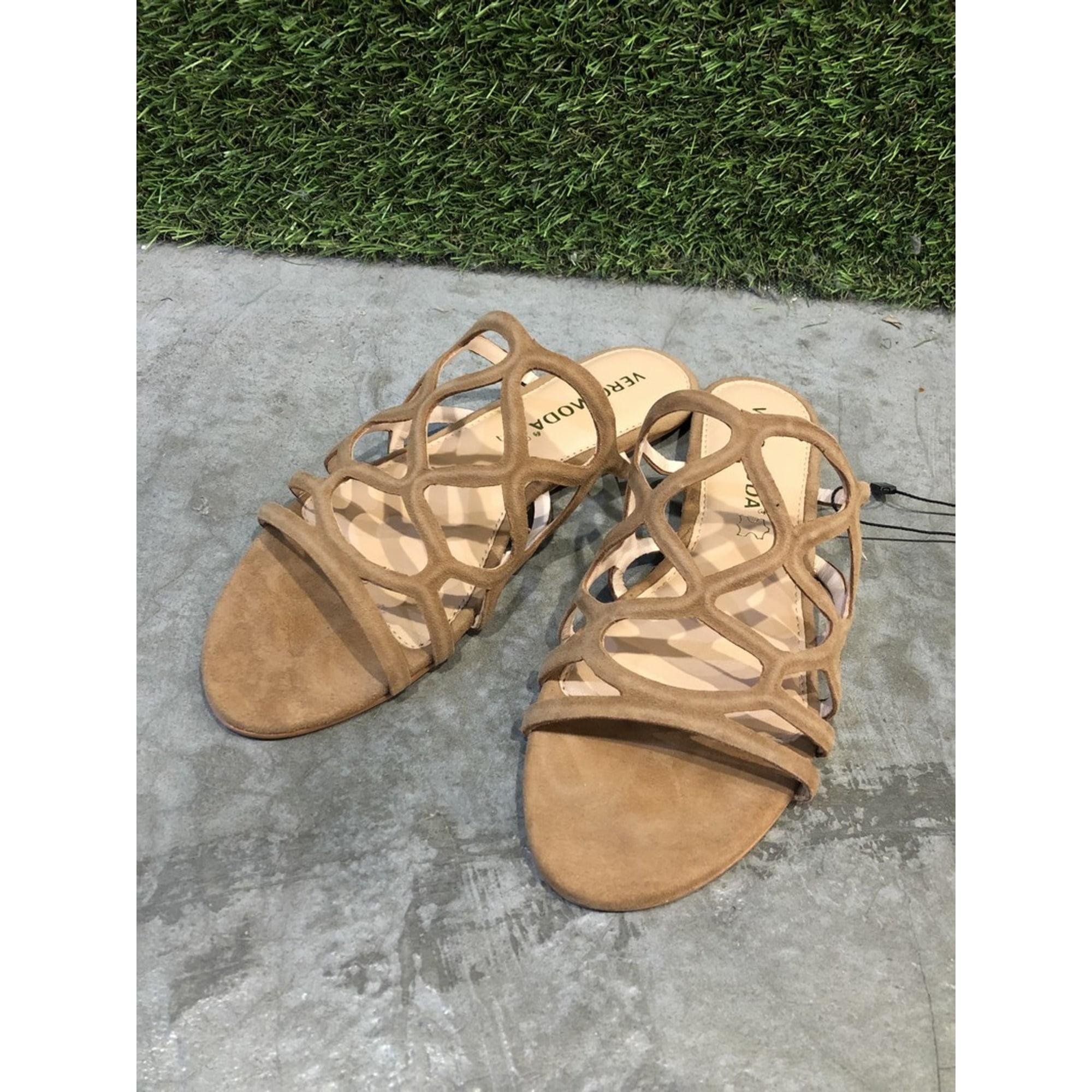 Sandales plates  VERO MODA Marron
