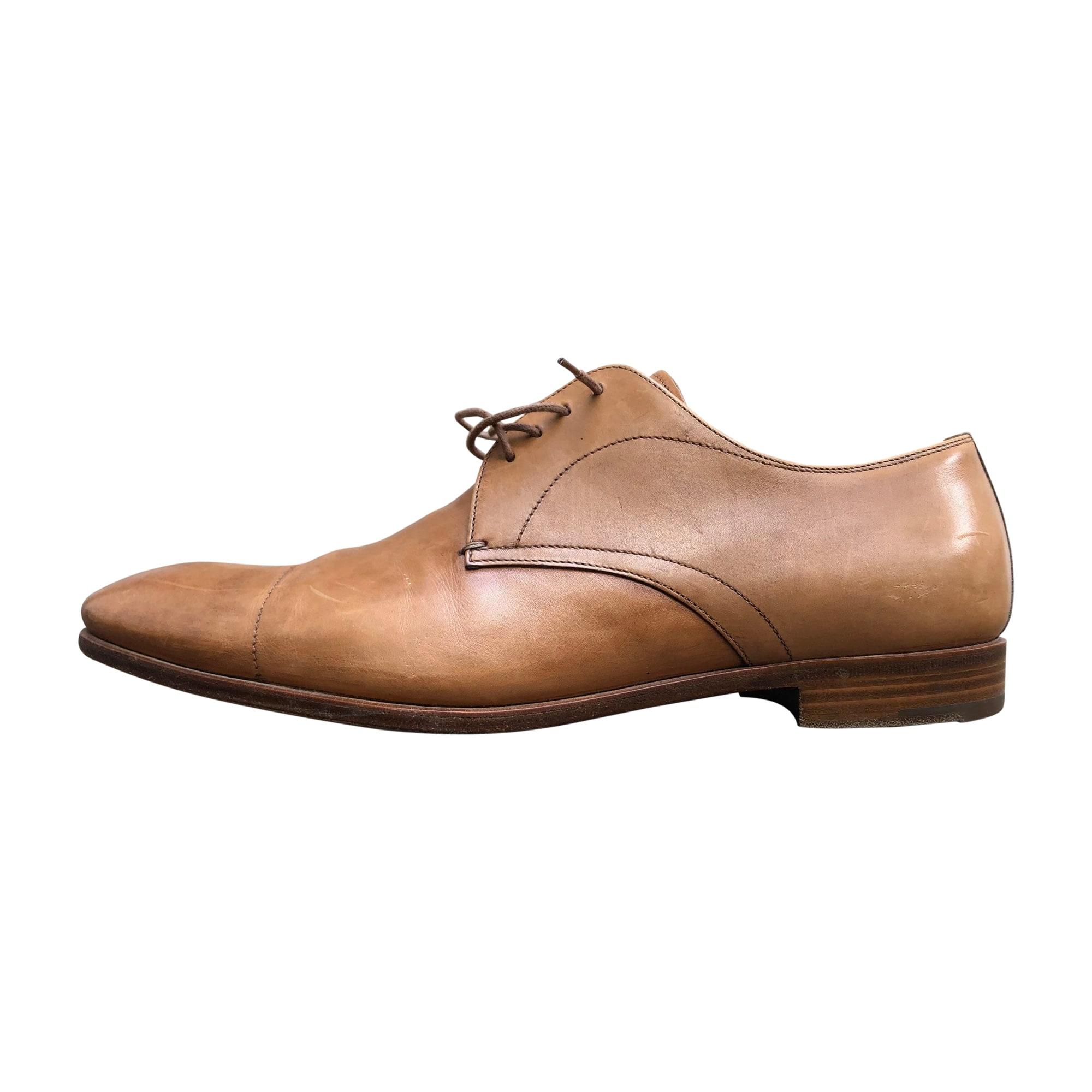 Lace Up Shoes PRADA Beige, camel