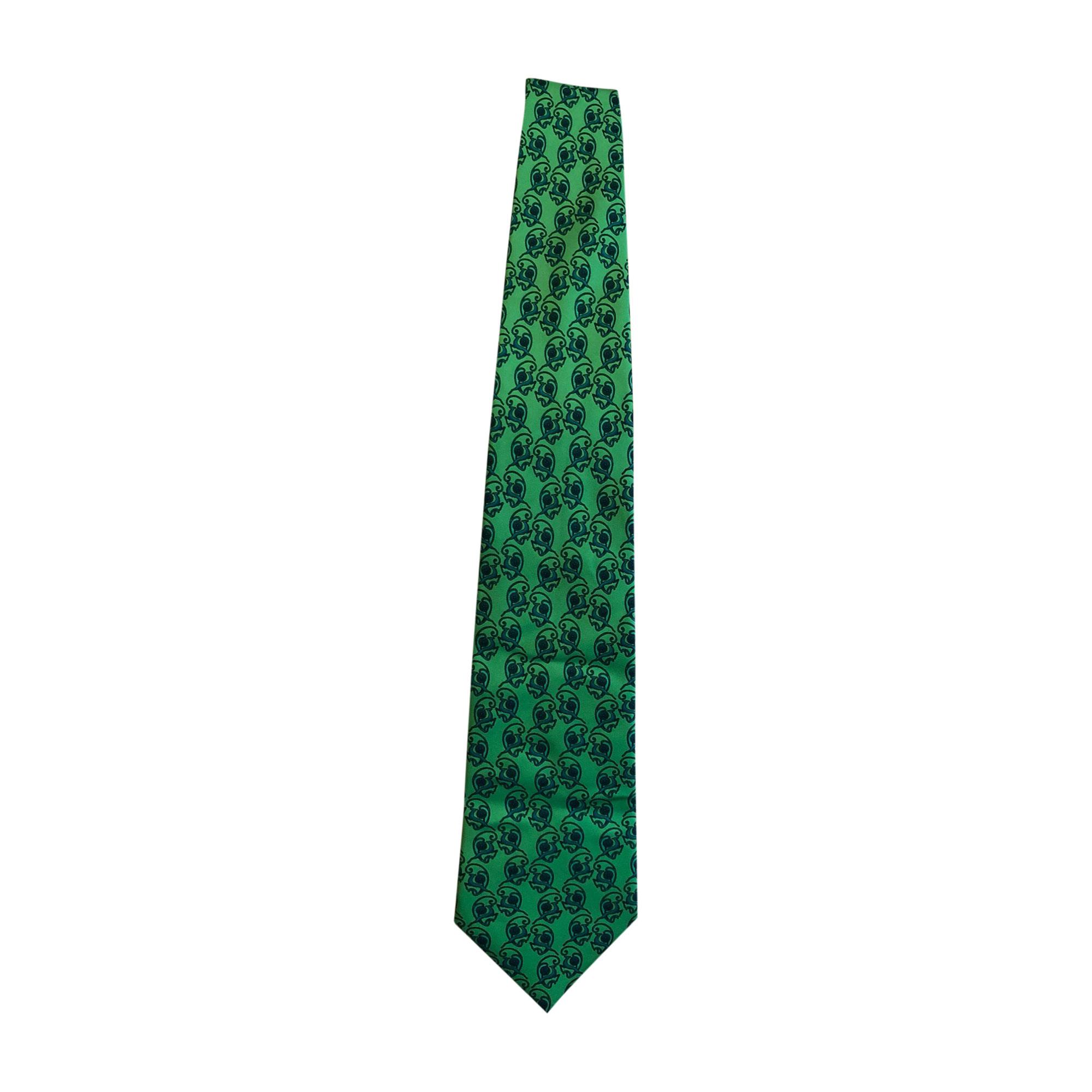 Cravate LANVIN Vert