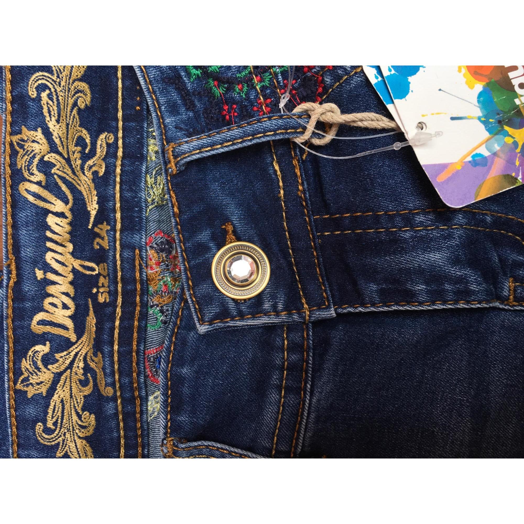 Jeans droit DESIGUAL Jean