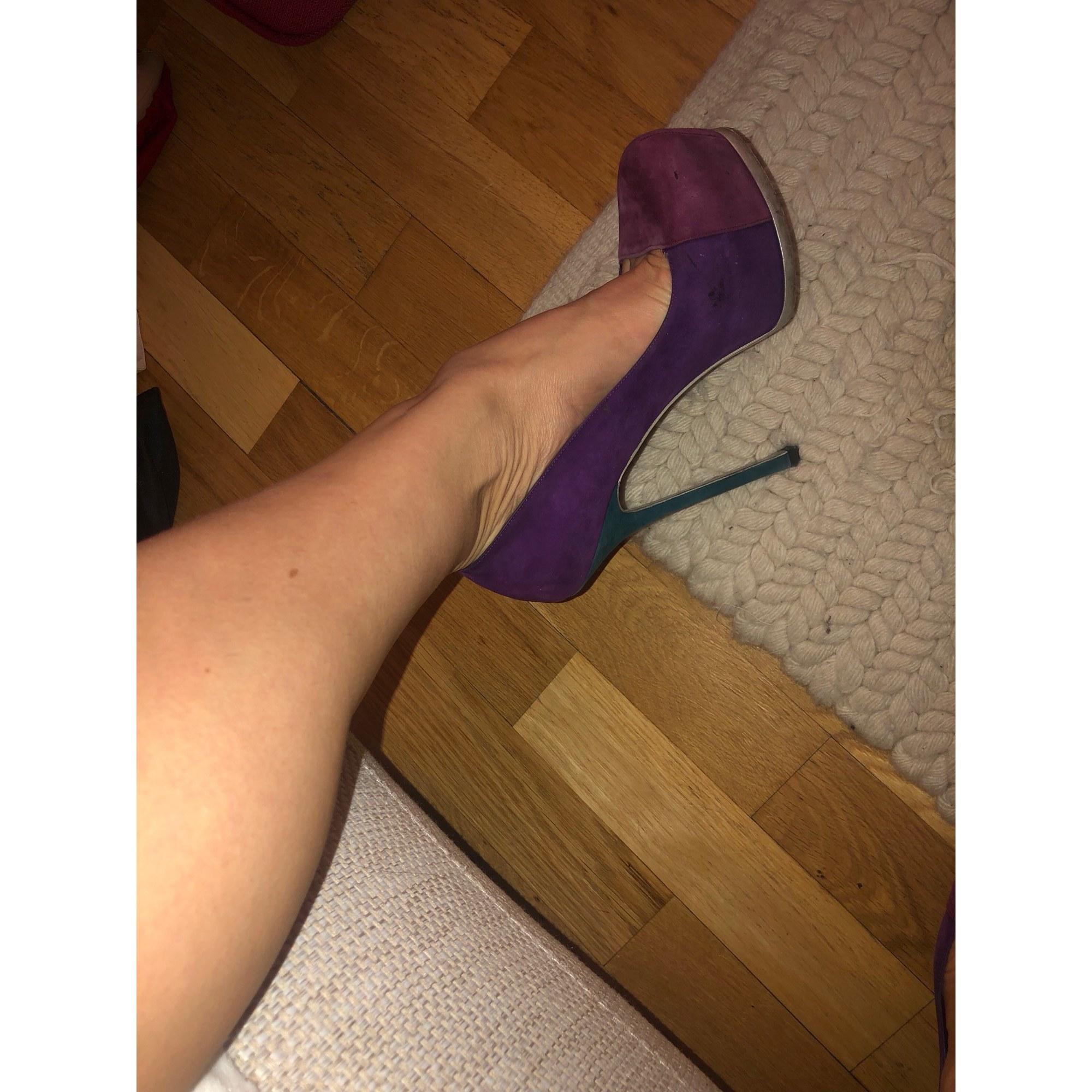 Escarpins compensés YVES SAINT LAURENT Violet, mauve, lavande