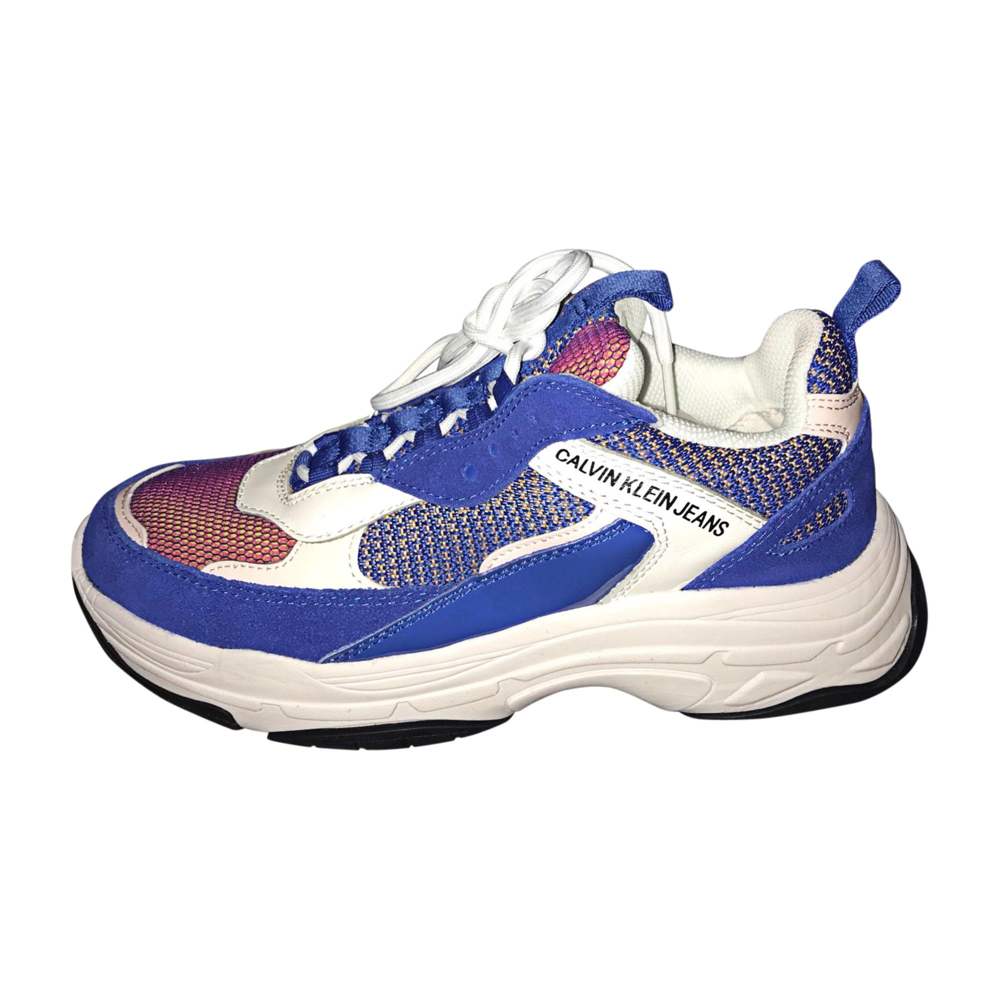Baskets CALVIN KLEIN Bleu, bleu marine, bleu turquoise