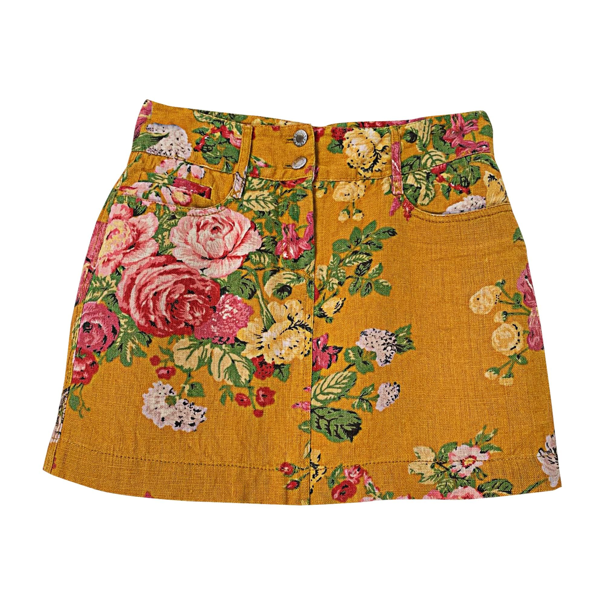 Mini Skirt DOLCE & GABBANA Yellow