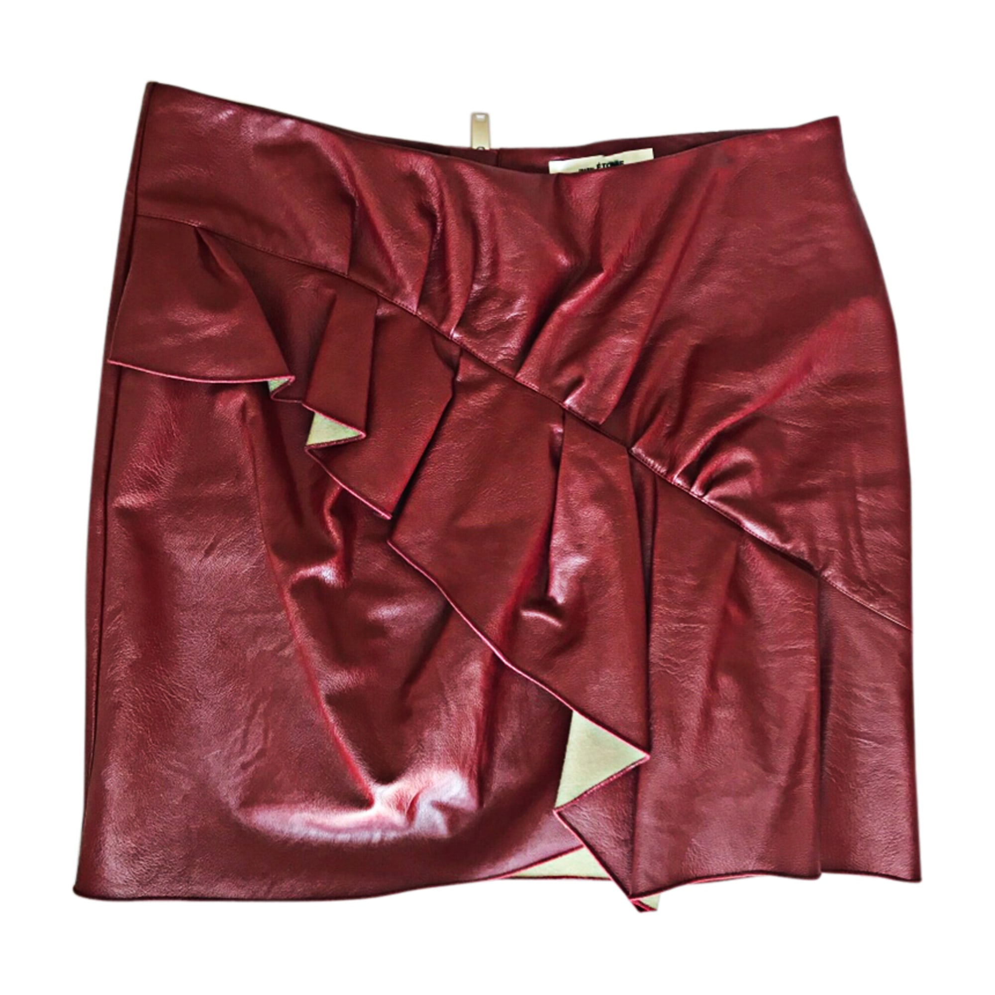 Jupe courte ISABEL MARANT ETOILE Rouge, bordeaux