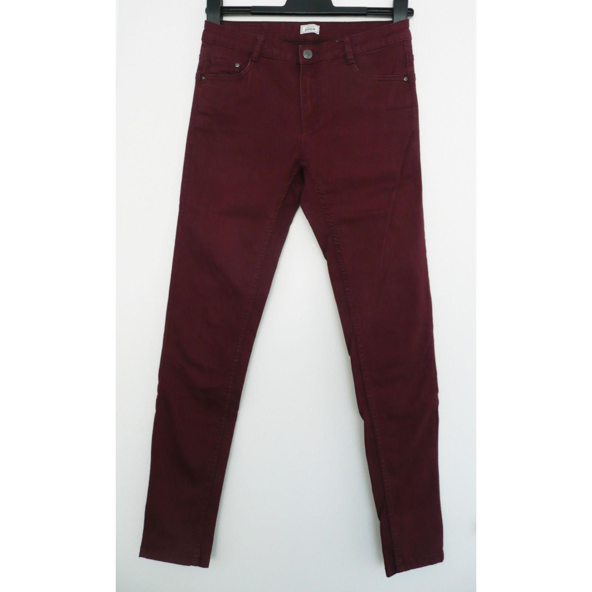 Pantalon slim, cigarette PIMKIE Rouge, bordeaux
