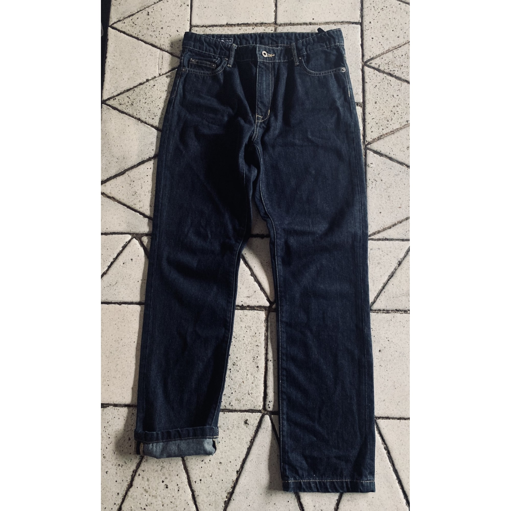 Jeans droit EDEN PARK Bleu, bleu marine, bleu turquoise