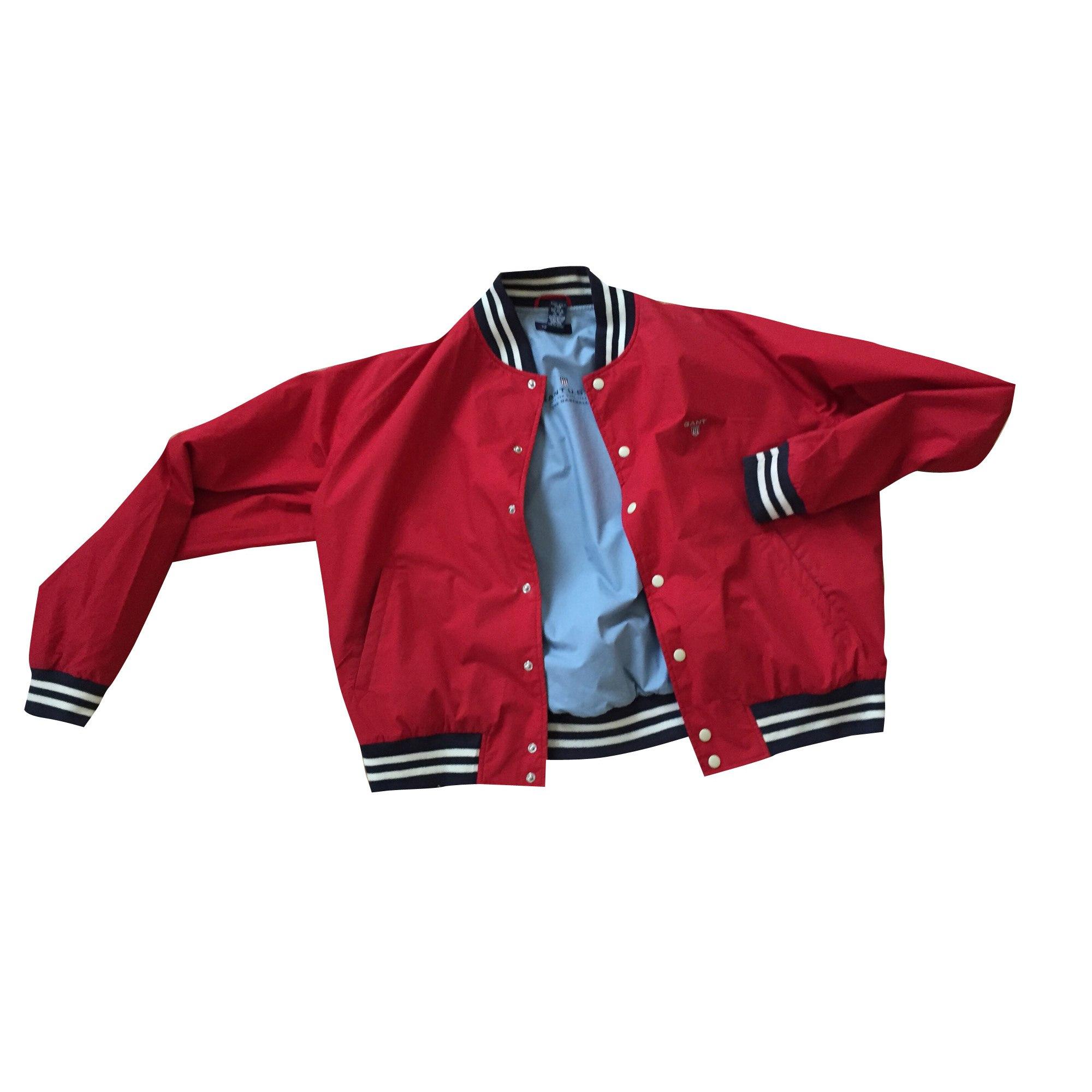 Zipped Jacket GANT Red, burgundy