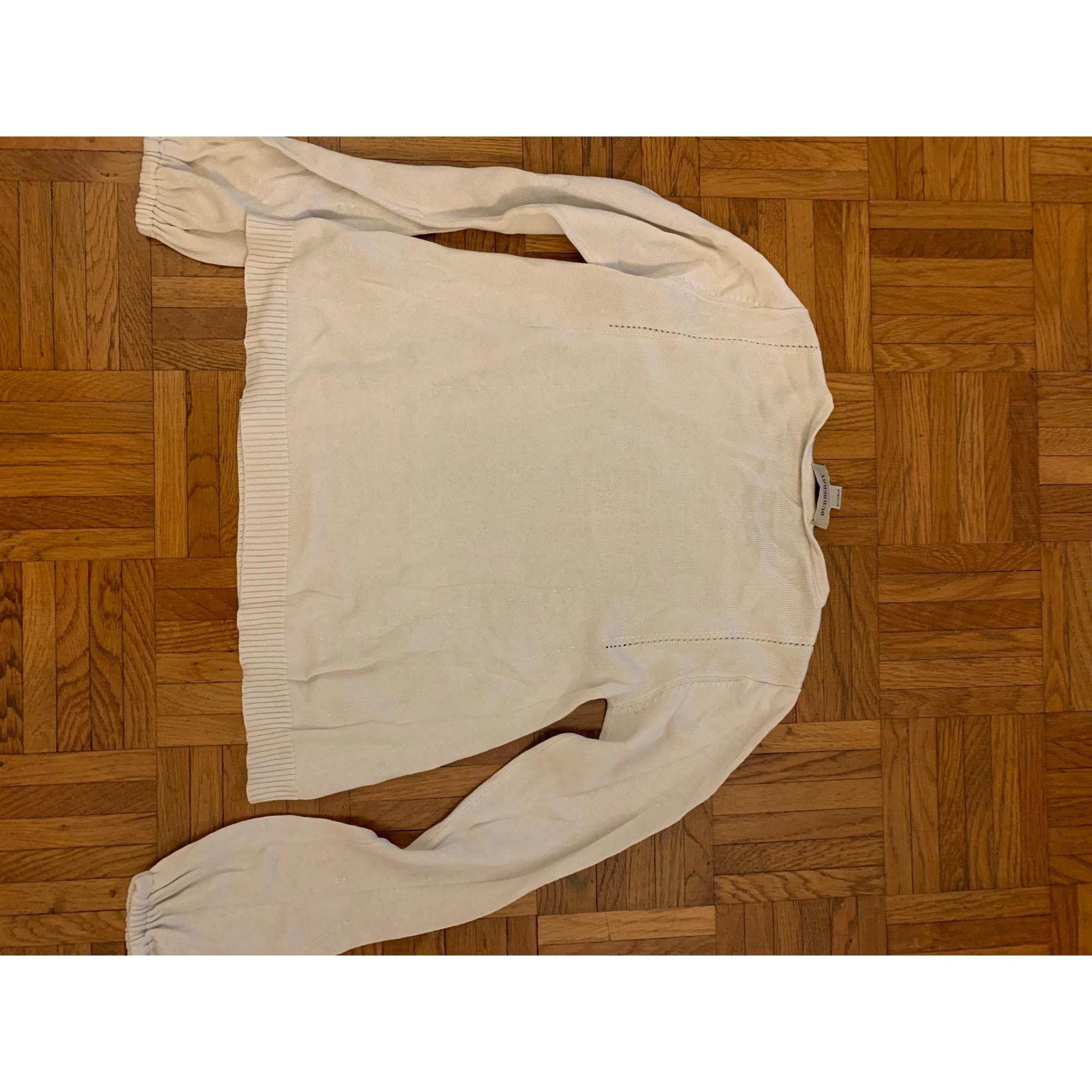 Pull BURBERRY Blanc, blanc cassé, écru