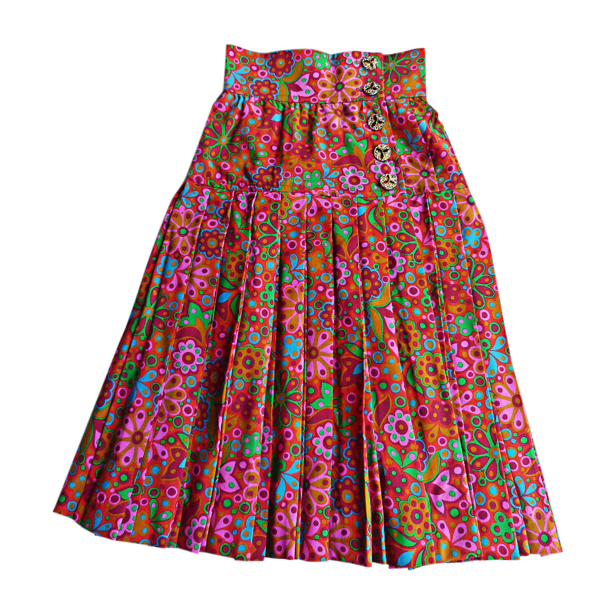 Midi Skirt YVES SAINT LAURENT Multicolor