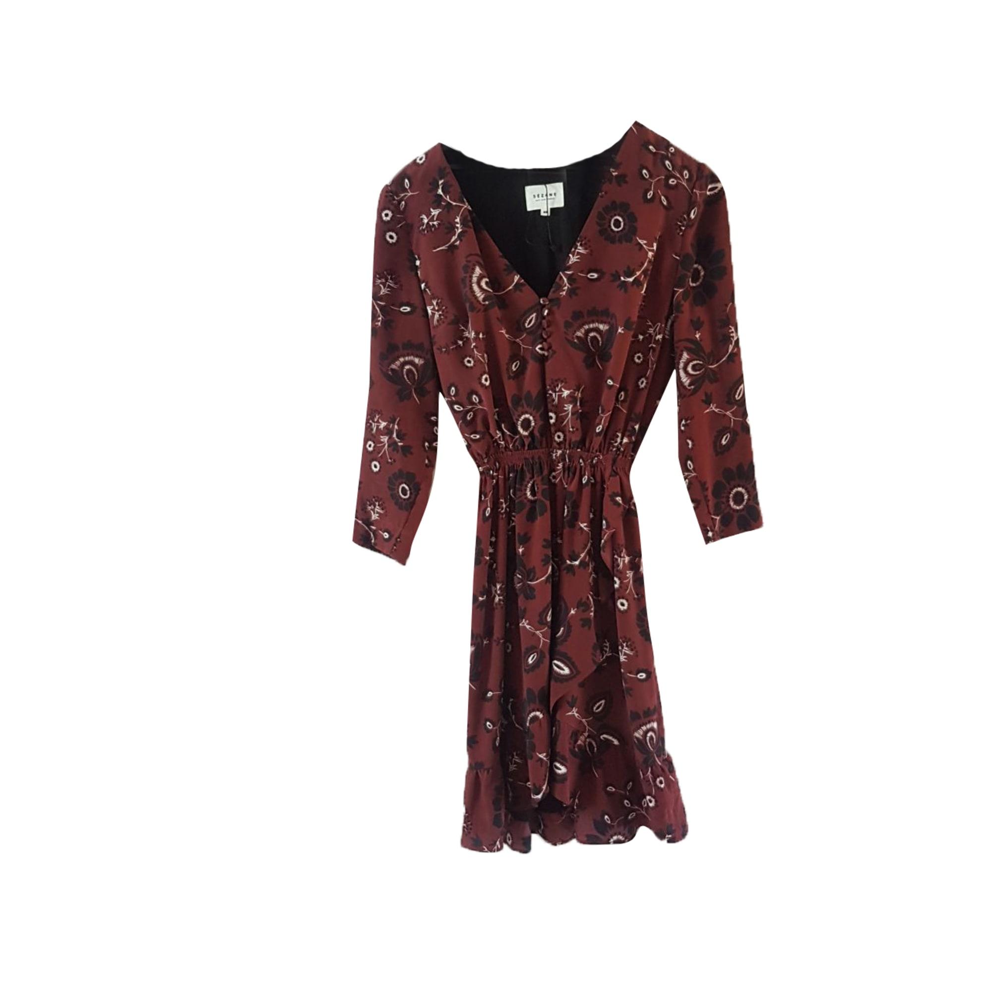 Robe courte SÉZANE Rouge, bordeaux