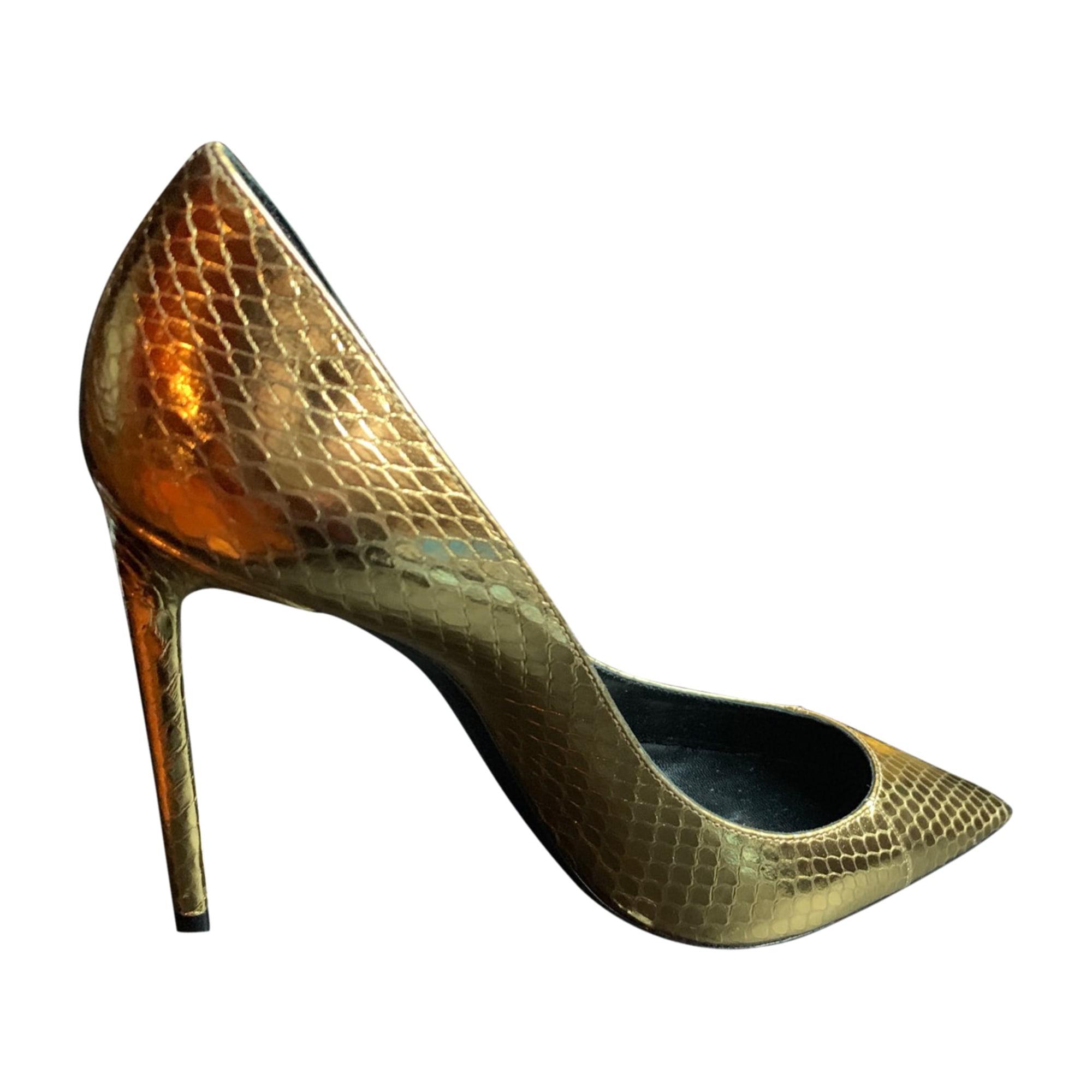 Pumps, Heels YVES SAINT LAURENT Golden, bronze, copper