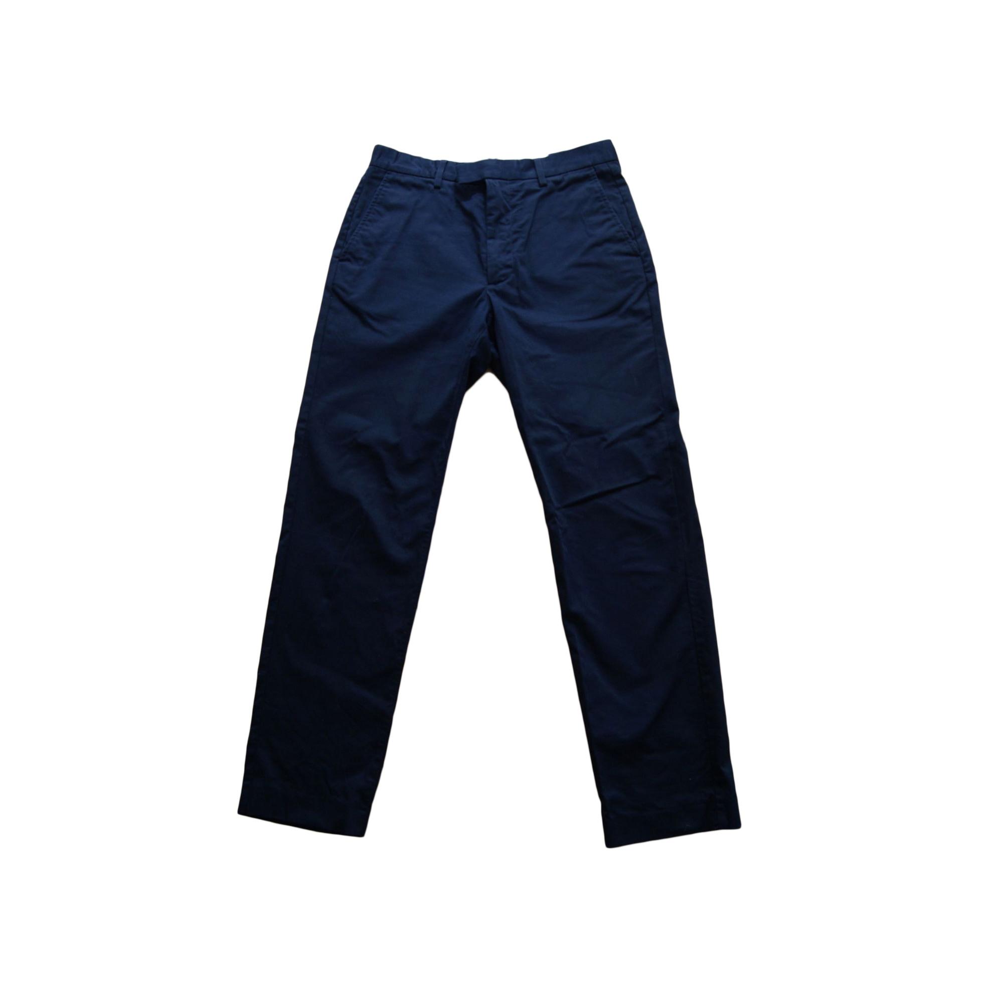 Pantalon droit ACNE Bleu, bleu marine, bleu turquoise