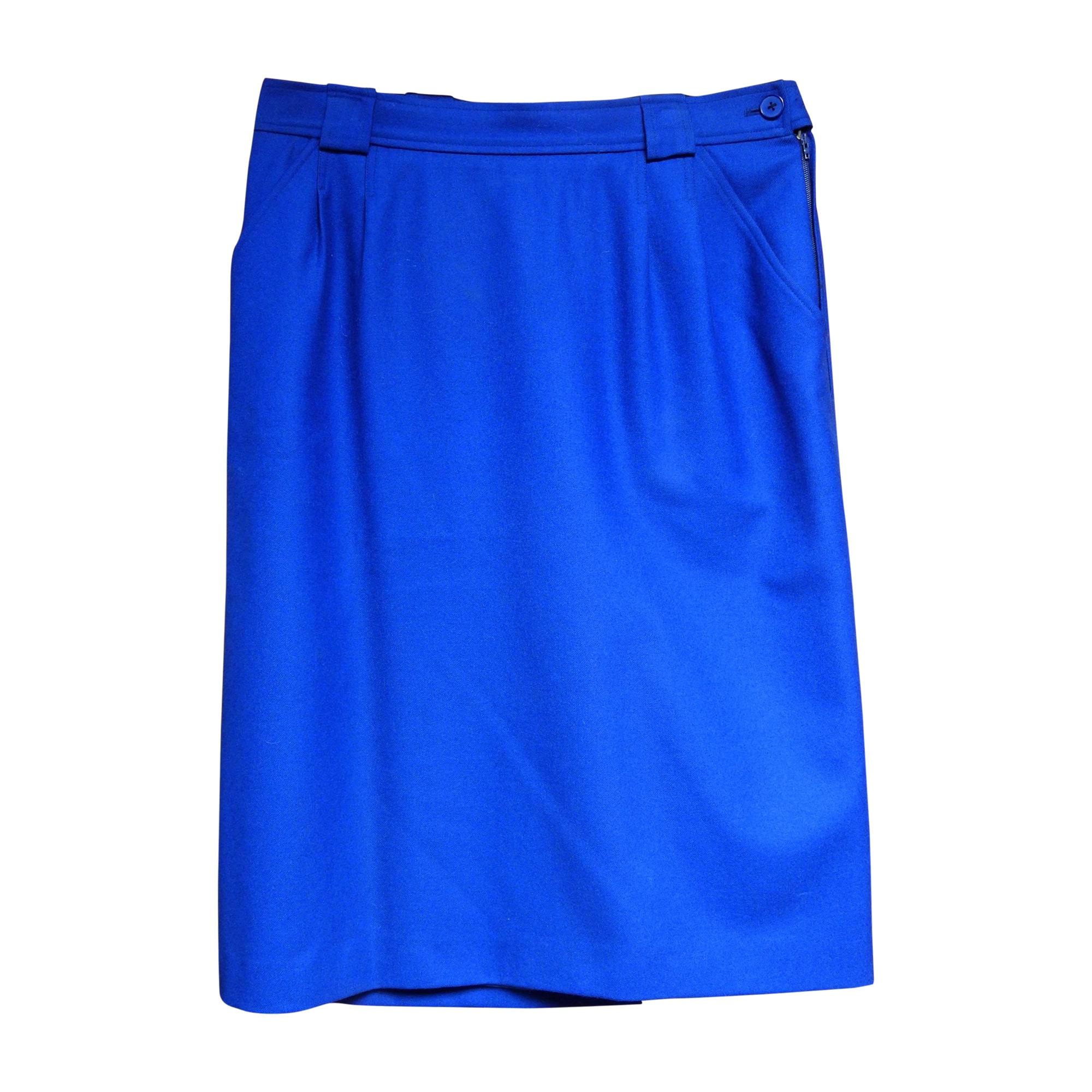 Jupe mi-longue YVES SAINT LAURENT Bleu, bleu marine, bleu turquoise