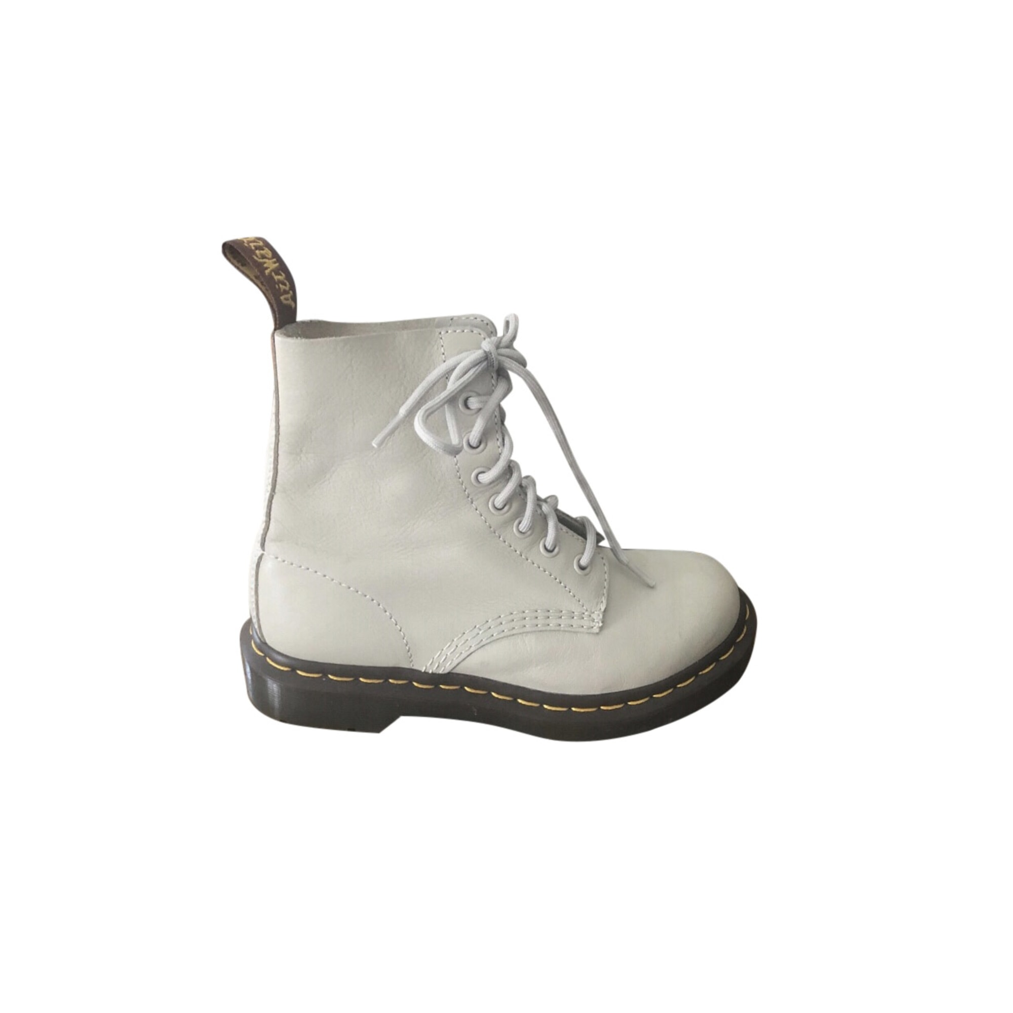 Bottines & low boots motards DR. MARTENS Blanc, blanc cassé, écru
