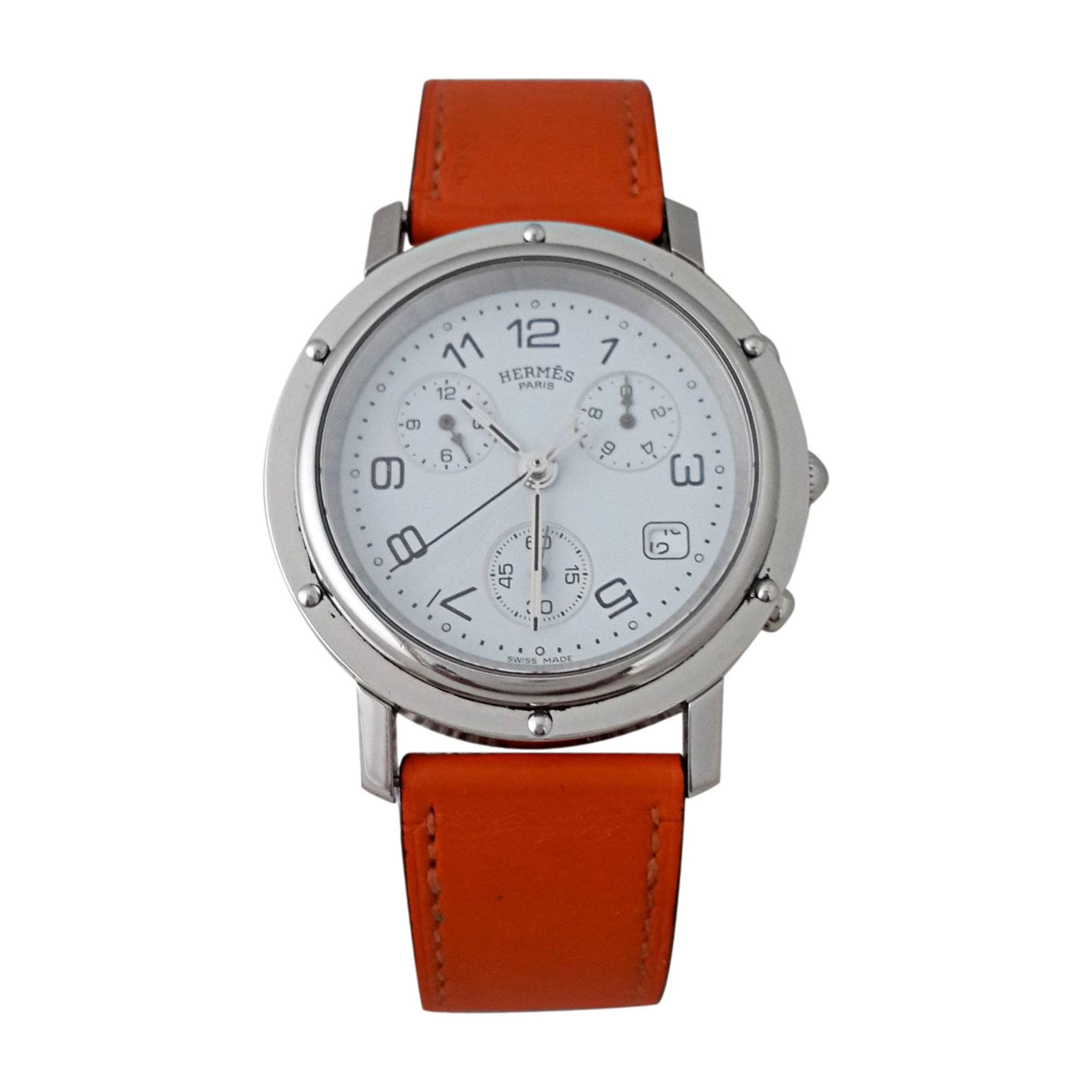 Armbanduhr HERMÈS Weiß, elfenbeinfarben