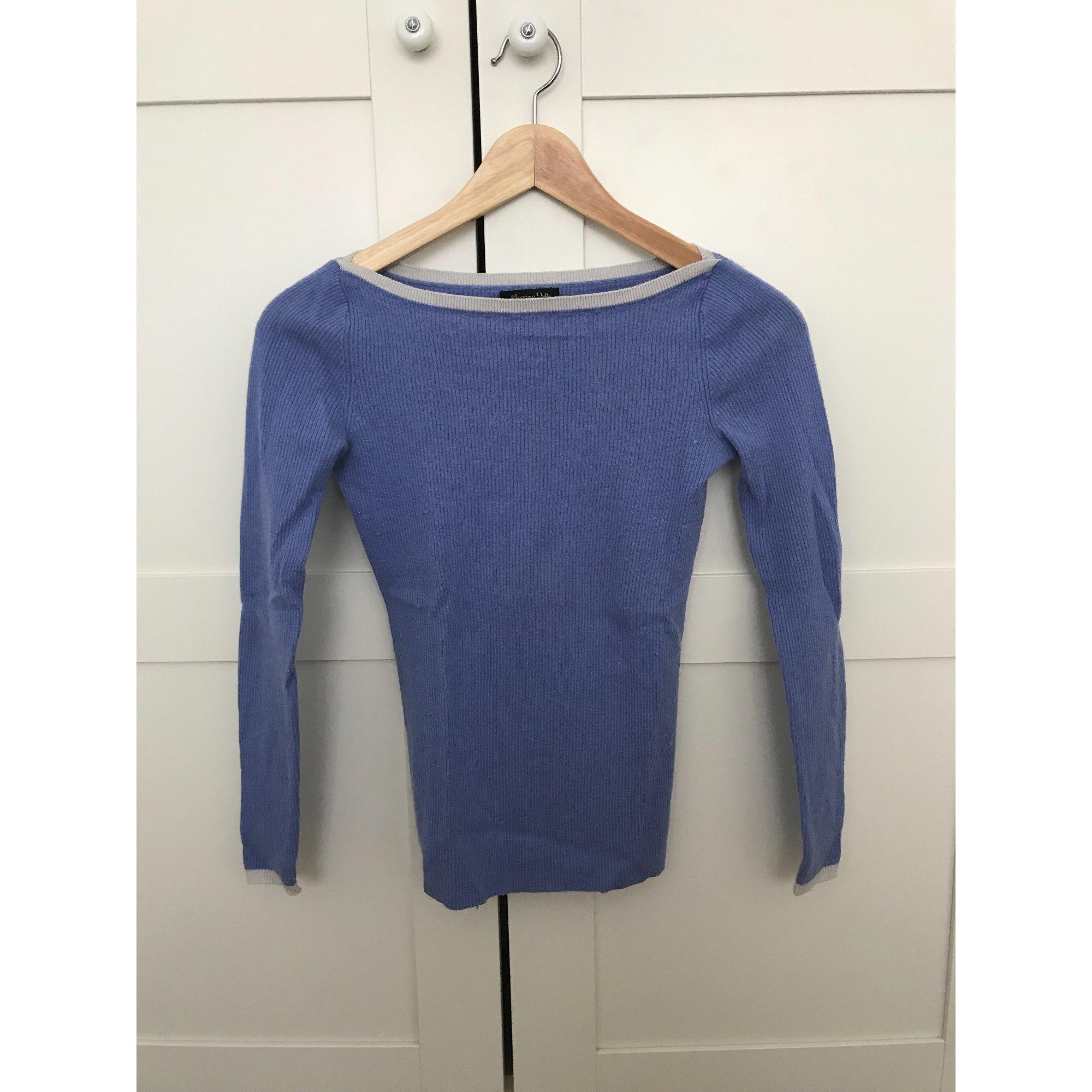 Pull MASSIMO DUTTI Bleu, bleu marine, bleu turquoise