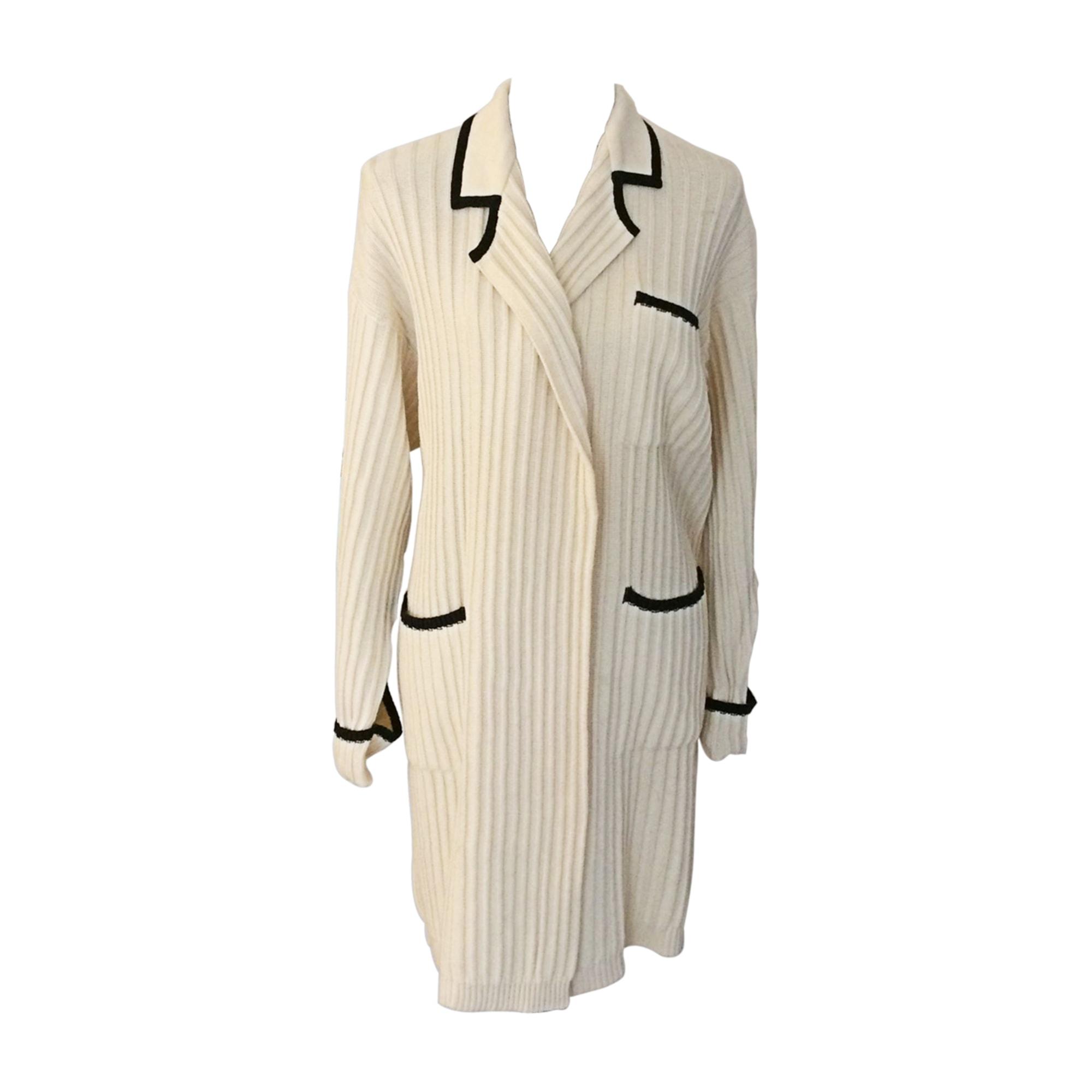 Mantel SONIA RYKIEL Weiß, elfenbeinfarben